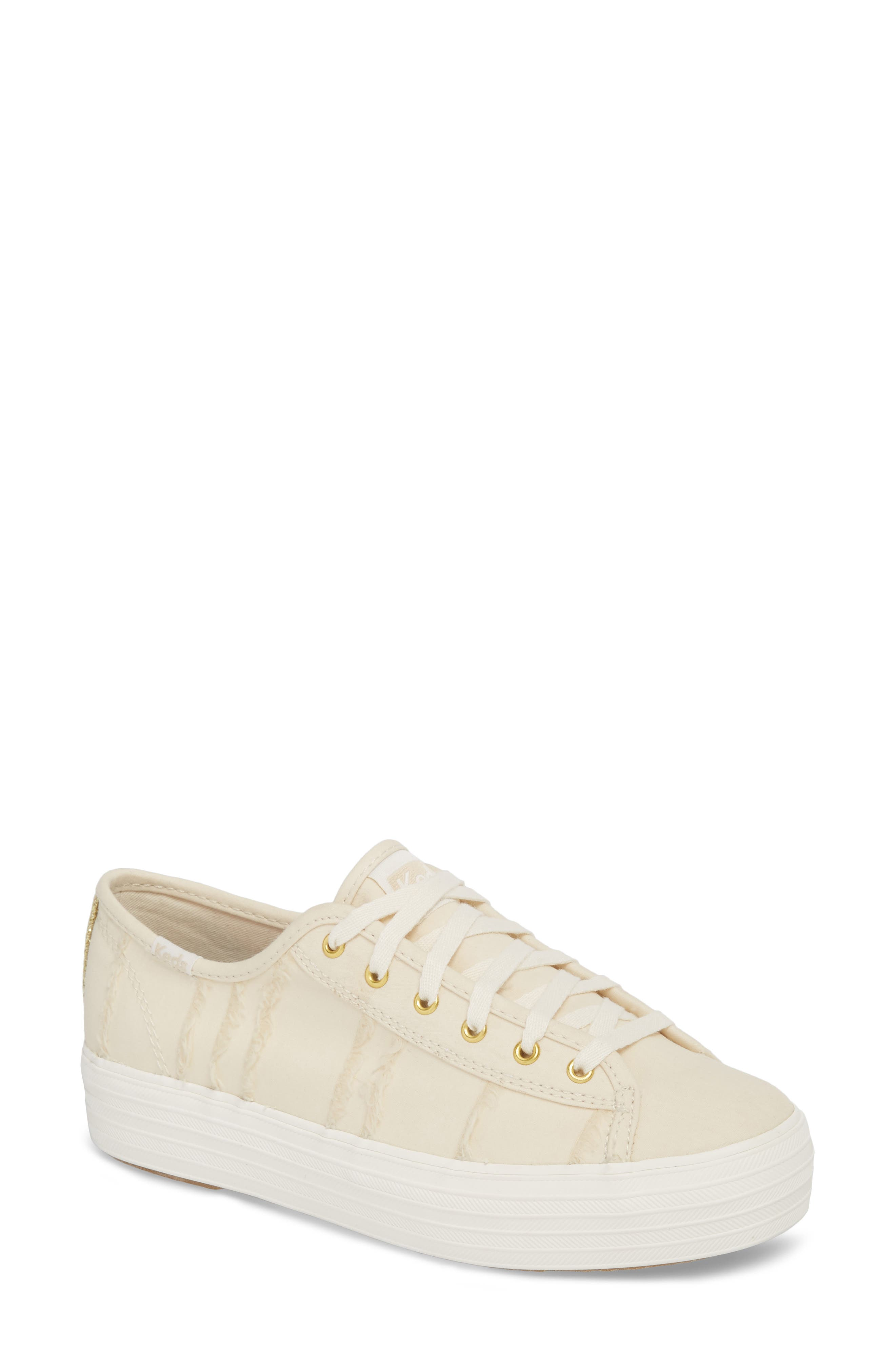 Triple Kick Canvas Sneaker,                             Main thumbnail 1, color,                             Cream