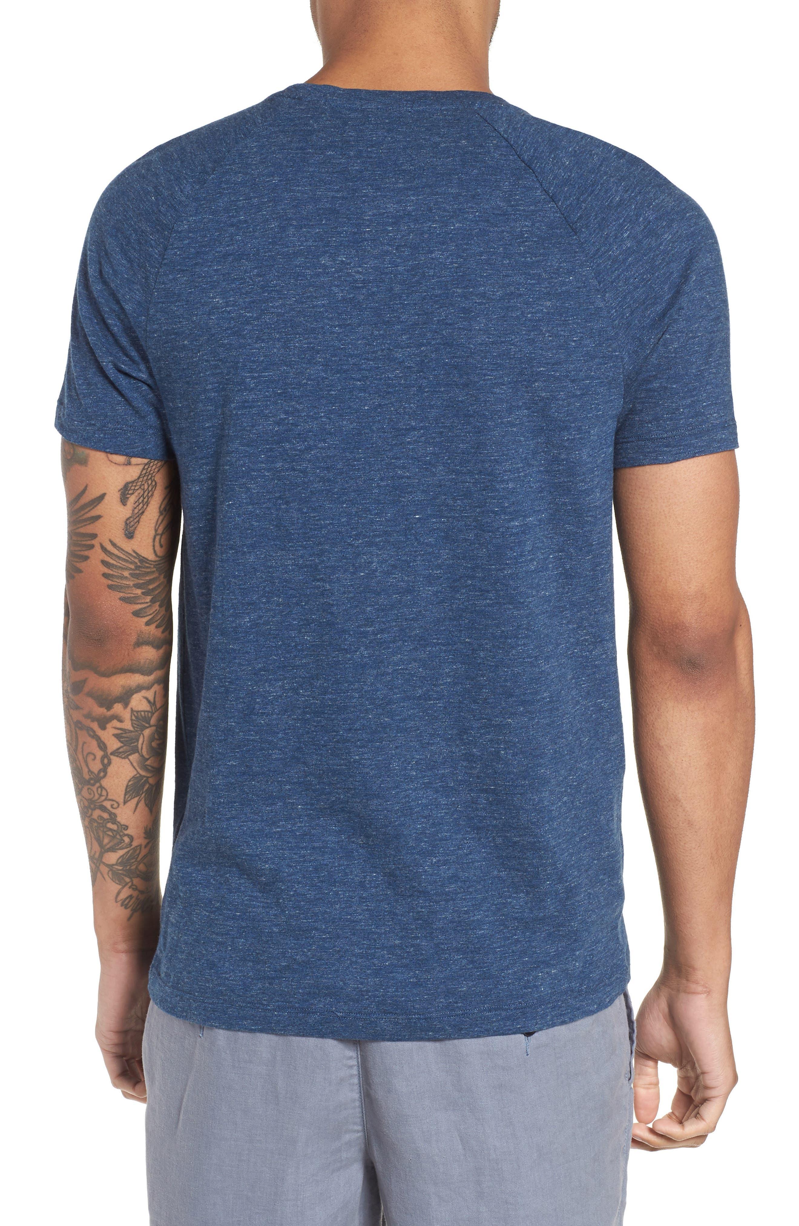 Tessler Slim Fit Pocket T-Shirt,                             Alternate thumbnail 2, color,                             Blue