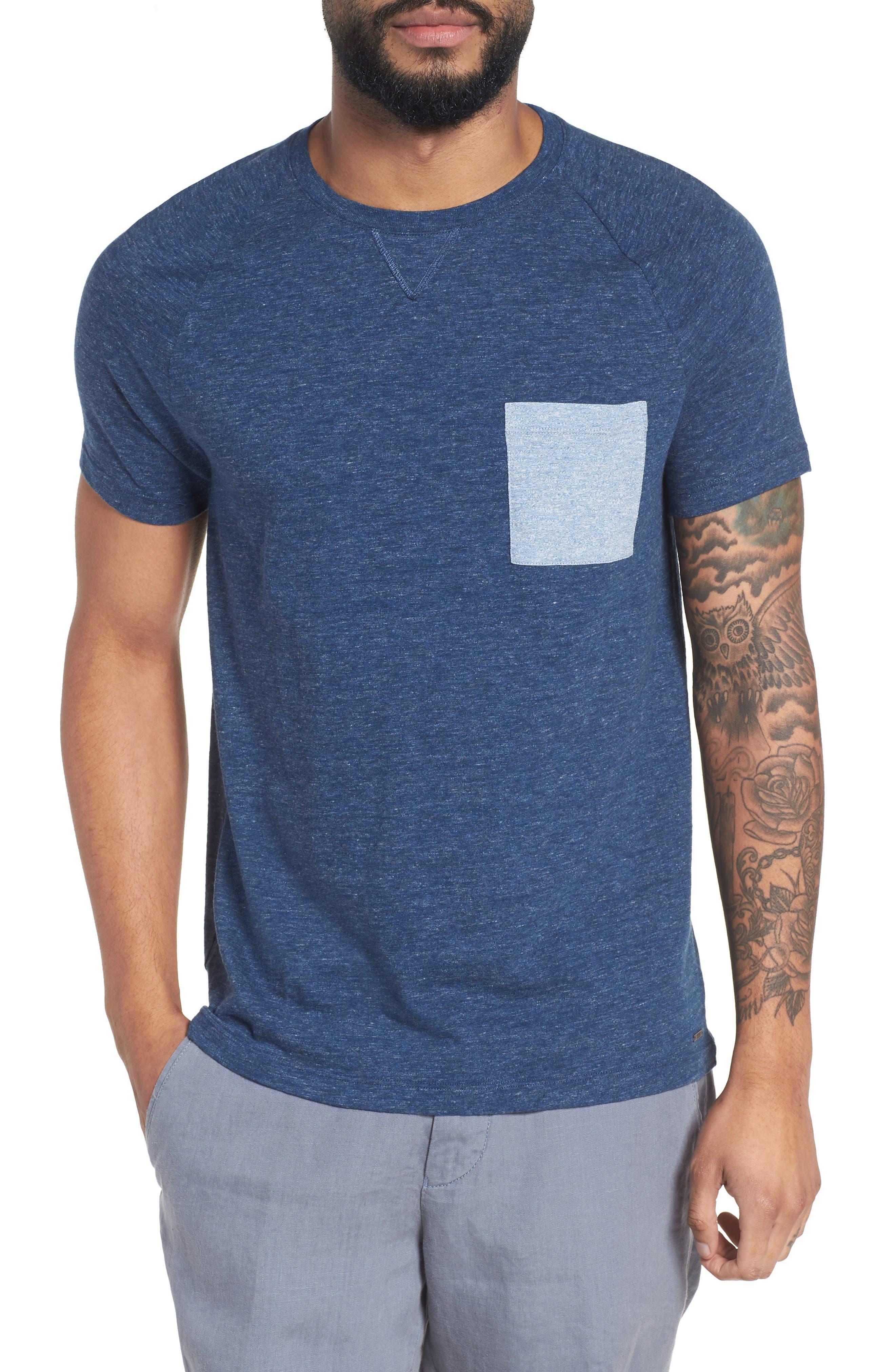 Tessler Slim Fit Pocket T-Shirt,                         Main,                         color, Blue