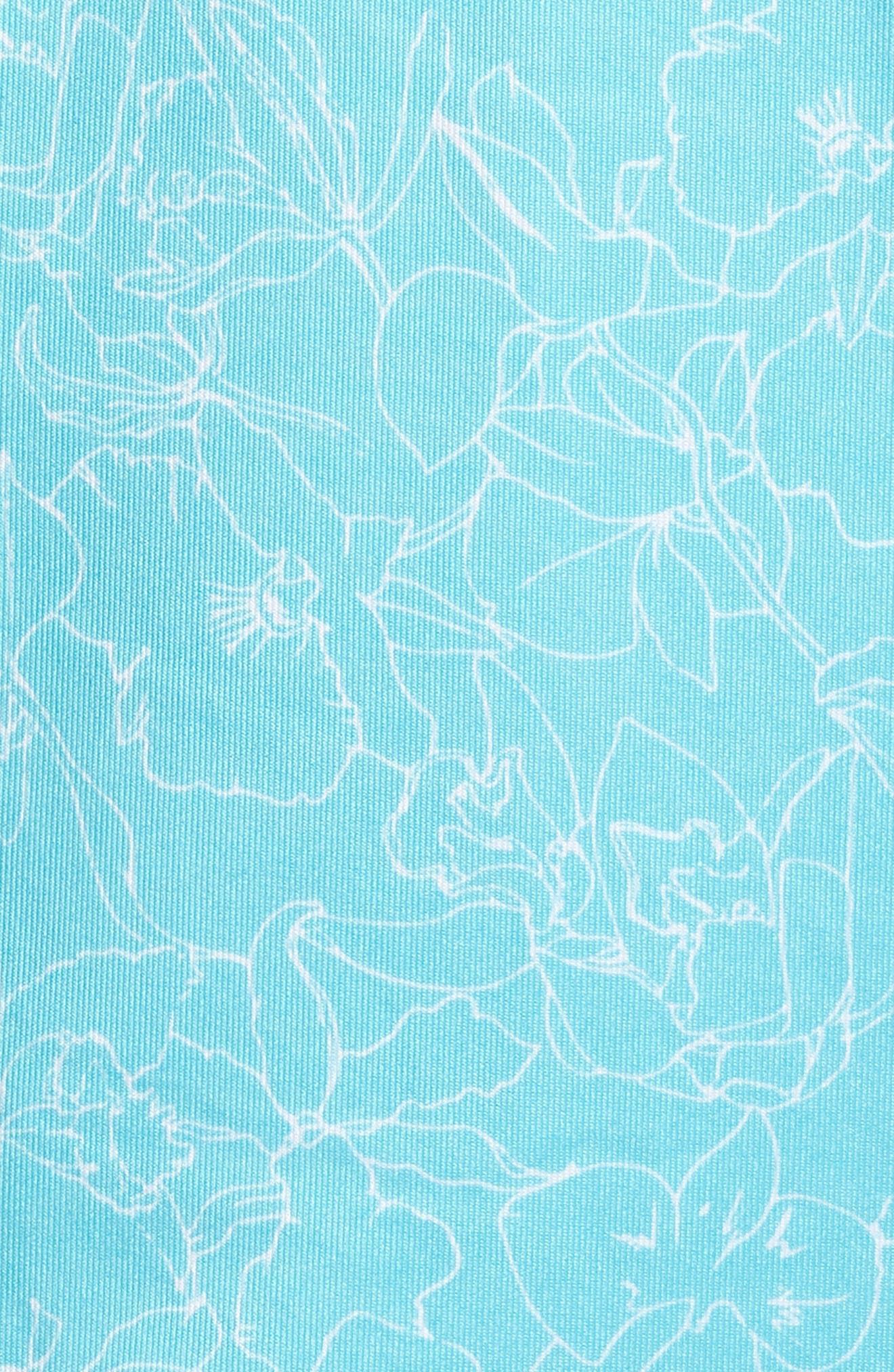 Serene Print DryTec Moisture Wicking Polo,                             Alternate thumbnail 5, color,                             Aruba