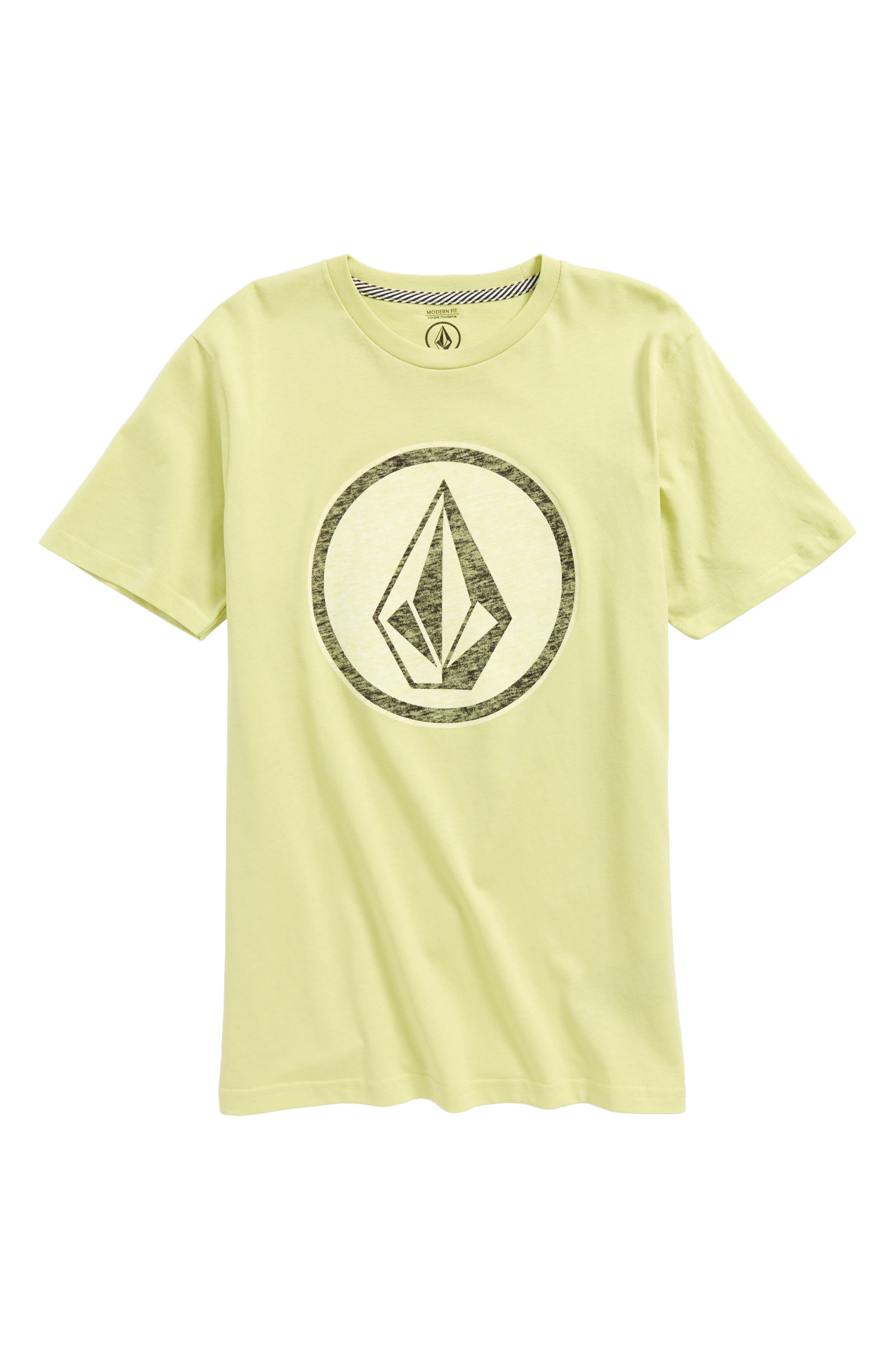 Classic Stone Logo Graphic T-Shirt,                             Main thumbnail 1, color,                             Lime Med