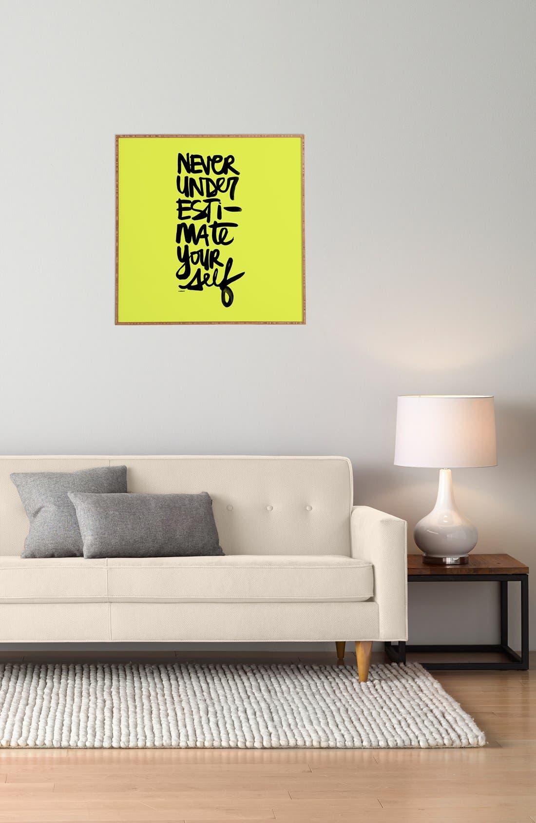 Alternate Image 2  - DENY Designs 'Kal Barteski - Never Underestimate Yourself' Wall Art