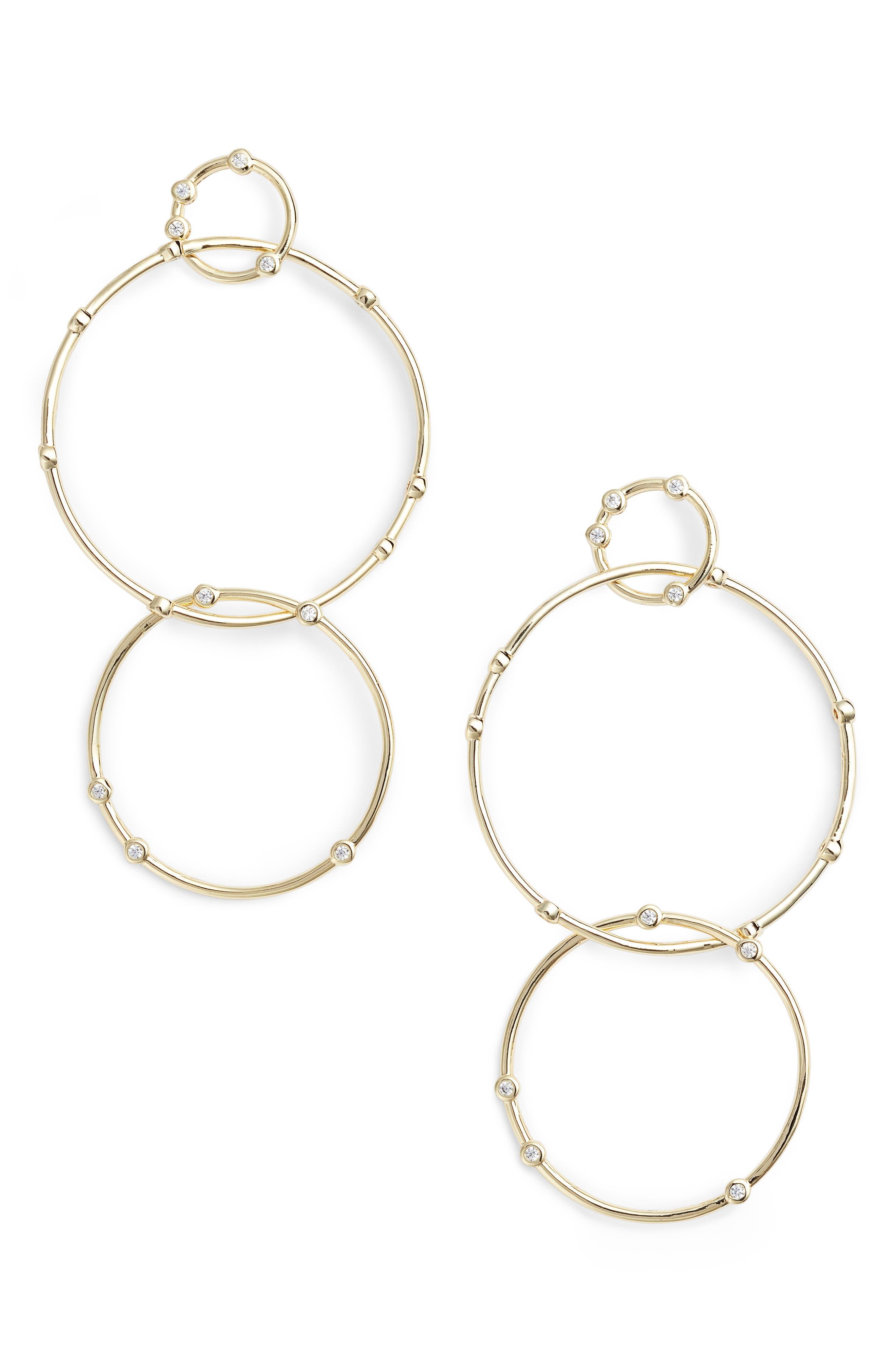 Melinda Maria Delicate Link Crystal Drop Earrings