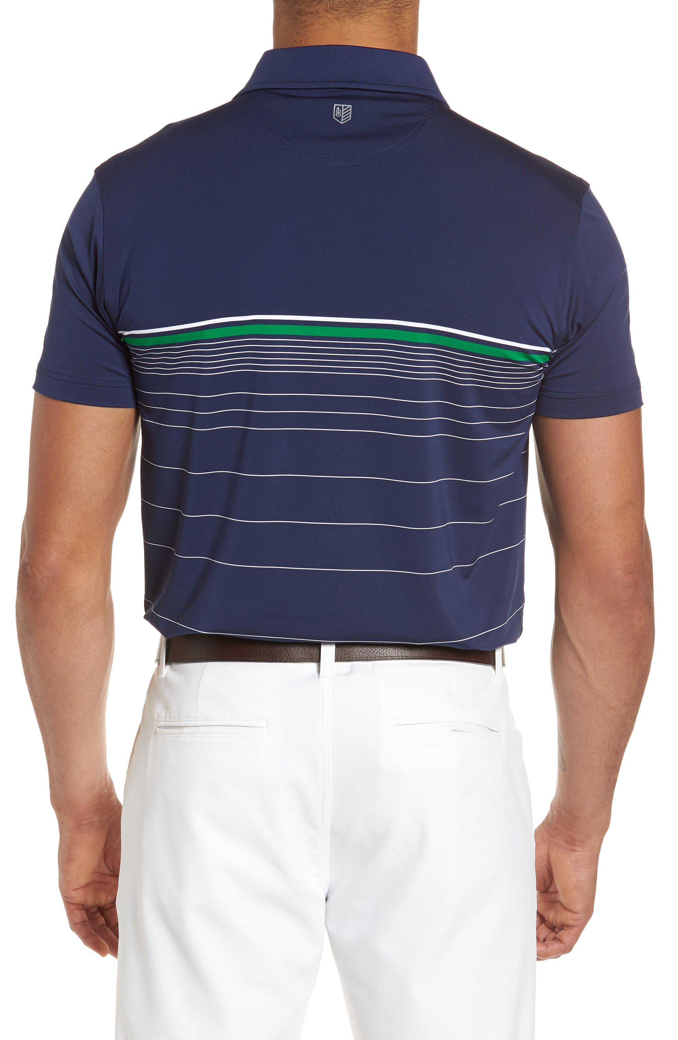 R18 Tech Skill Stripe Polo,                             Alternate thumbnail 2, color,                             Navy