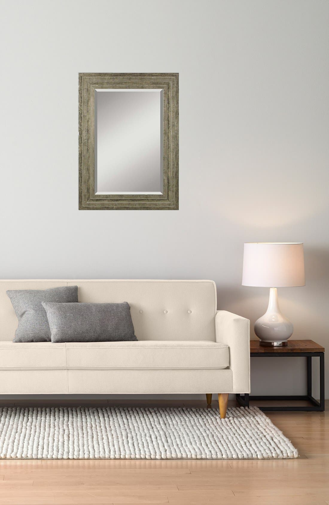 'Hallmar' Wall Mirror,                             Alternate thumbnail 2, color,                             Silver