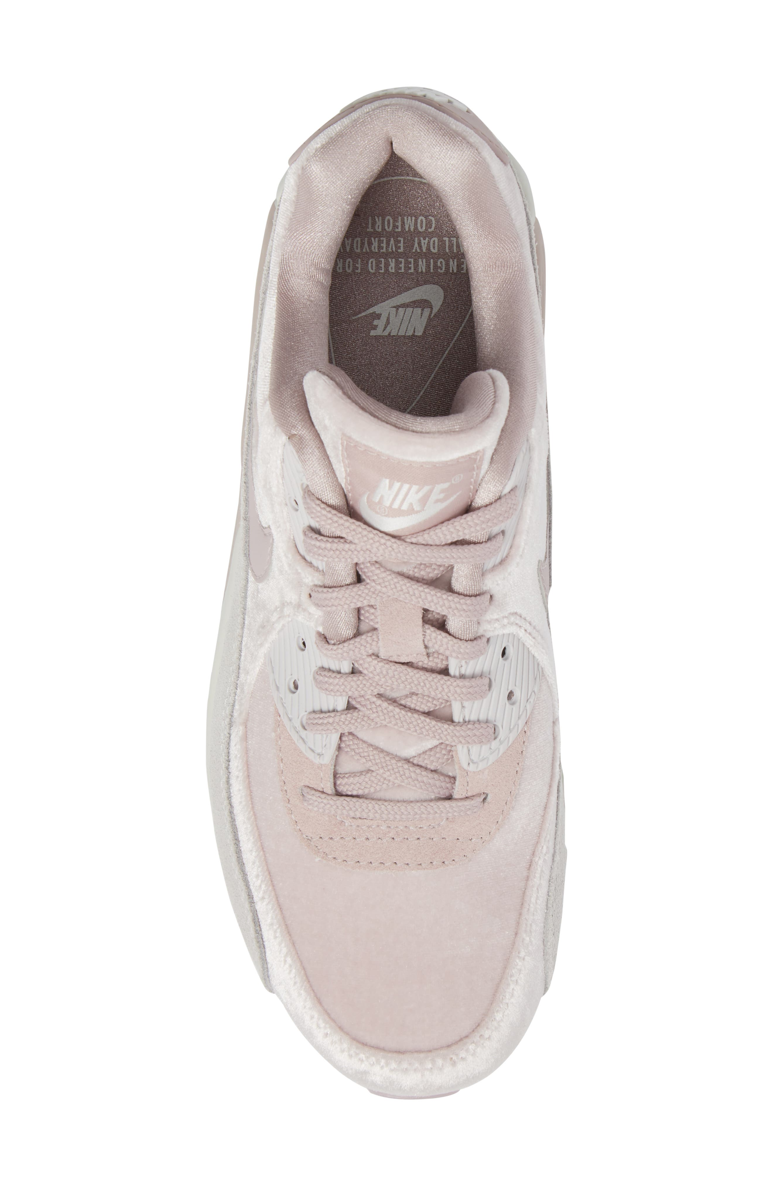 Air Max 90 LX Sneaker,                             Alternate thumbnail 4, color,                             Particle Rose/ Particle Rose