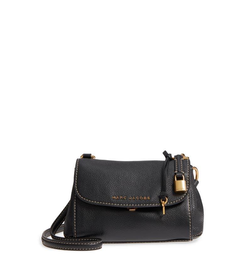 74073521f494a Marc Jacobs Mini The Boho Grind Leather Shoulder Bag - Black