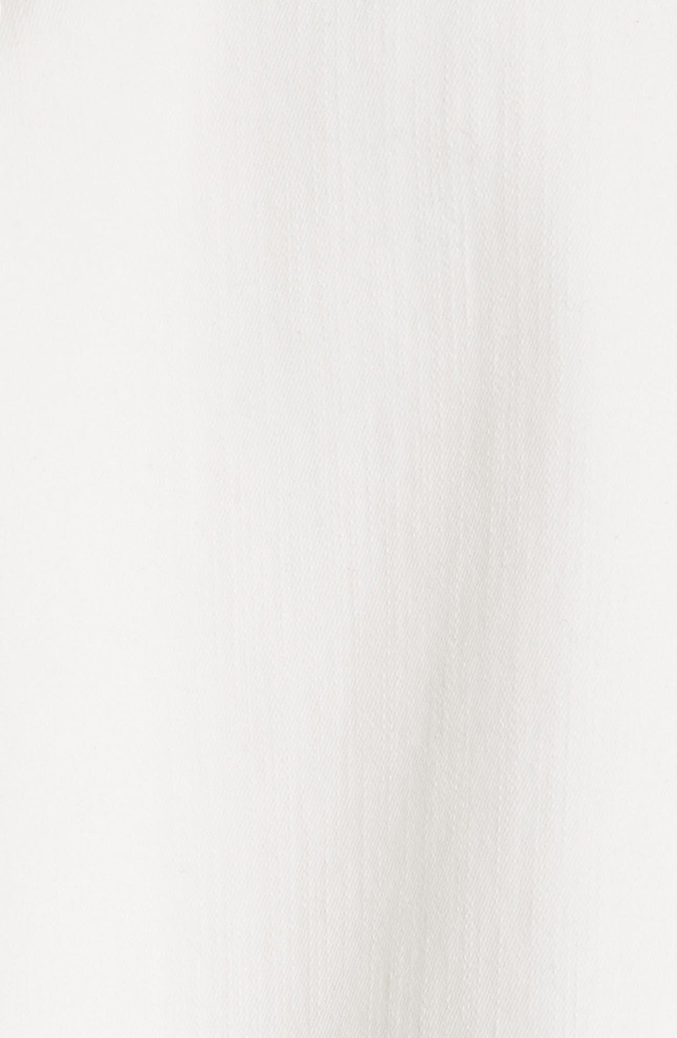 Tinsley Denim Crop Top,                             Alternate thumbnail 5, color,                             White