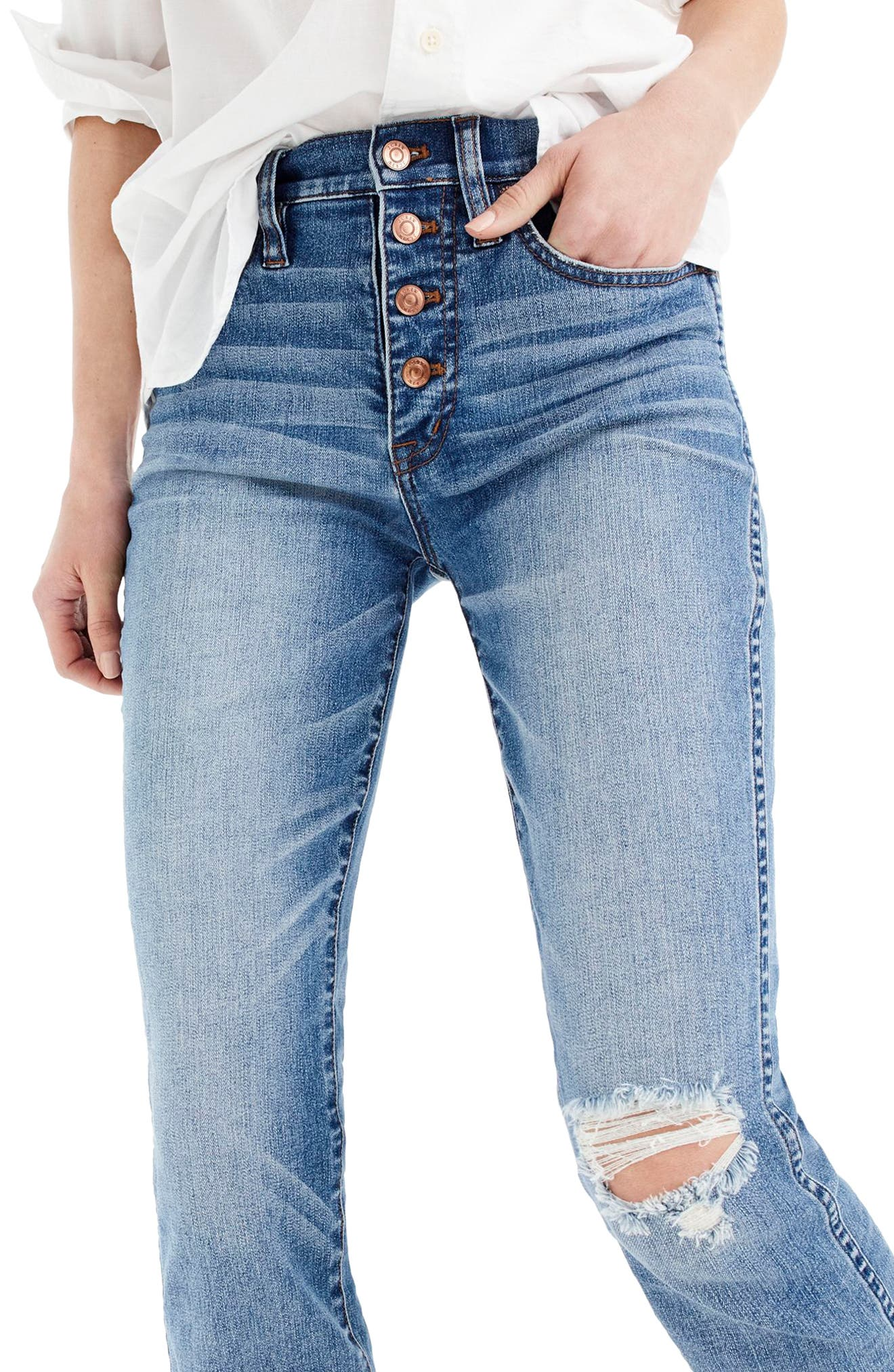 Vintage Straight Jeans,                         Main,                         color, Reed Wash