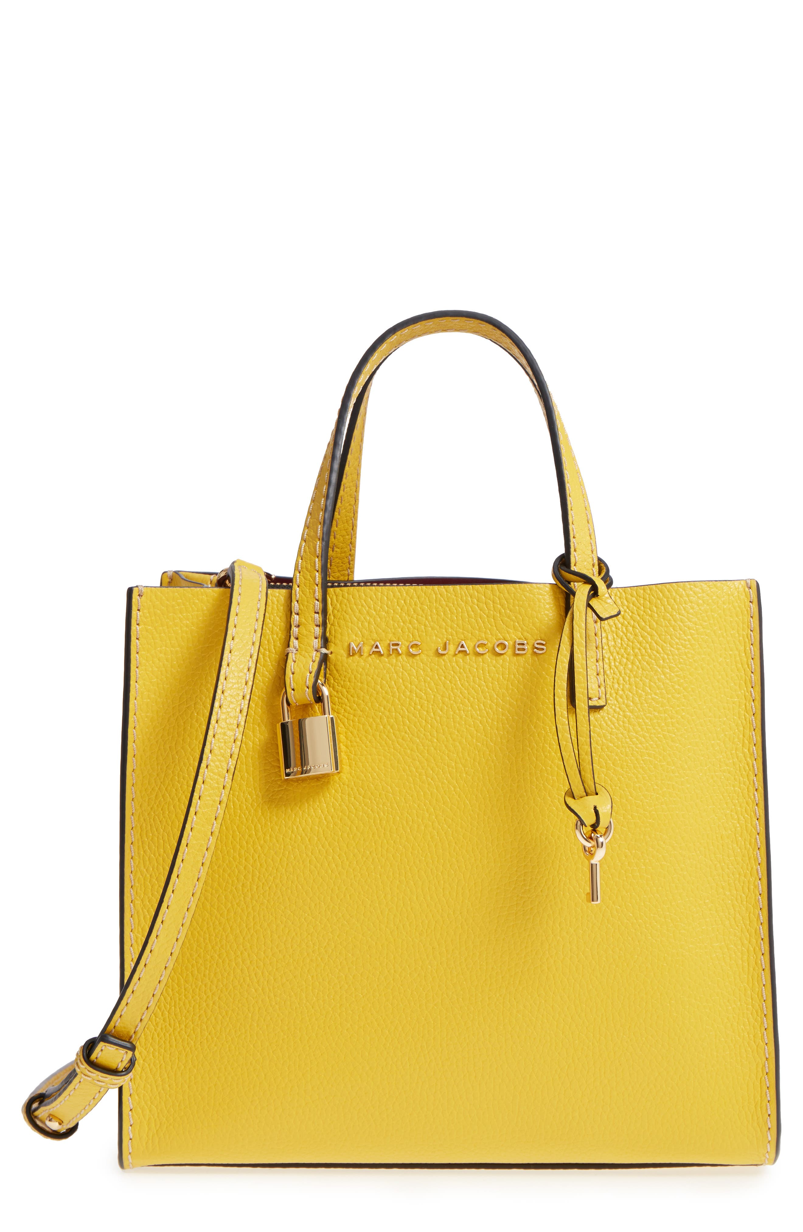 Main Image - MARC JACOBS The Grind Mini Colorblock Leather Tote