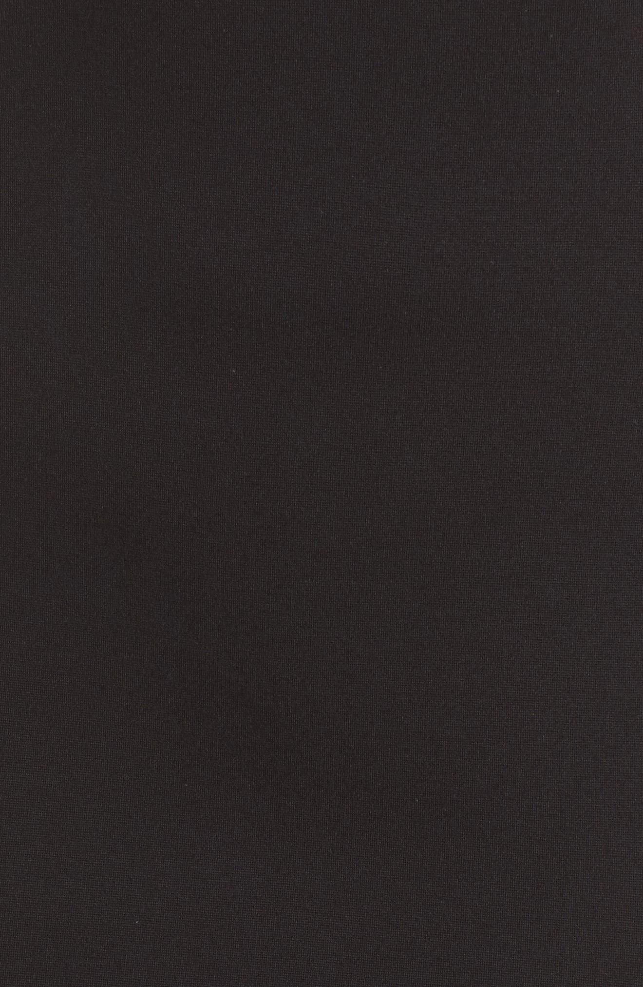 Lore Lula Colorblock Ponte Sheath Dress,                             Alternate thumbnail 5, color,                             Black/ Summer White