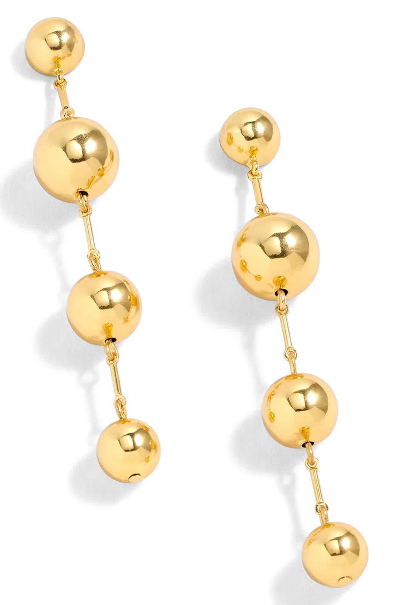 Ball Drop Earrings,                             Main thumbnail 1, color,                             Gold