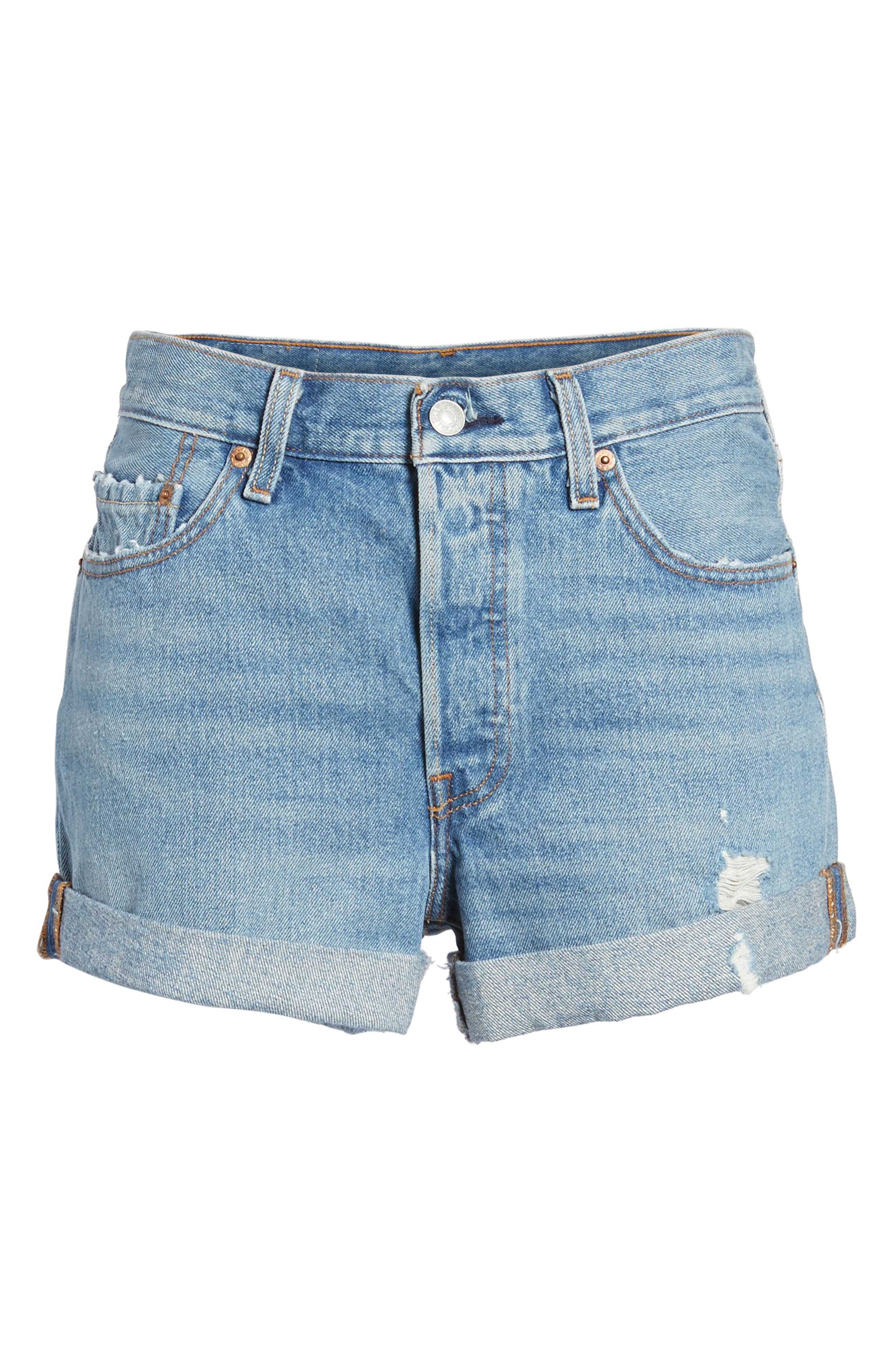 Alternate Image 6  - Levi's® 501® Long Denim Shorts (Highways & Biways)