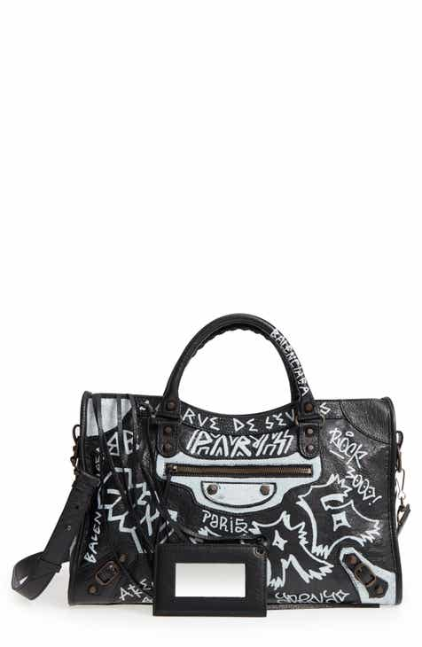 551ad0394f Balenciaga City Graffiti Leather Tote