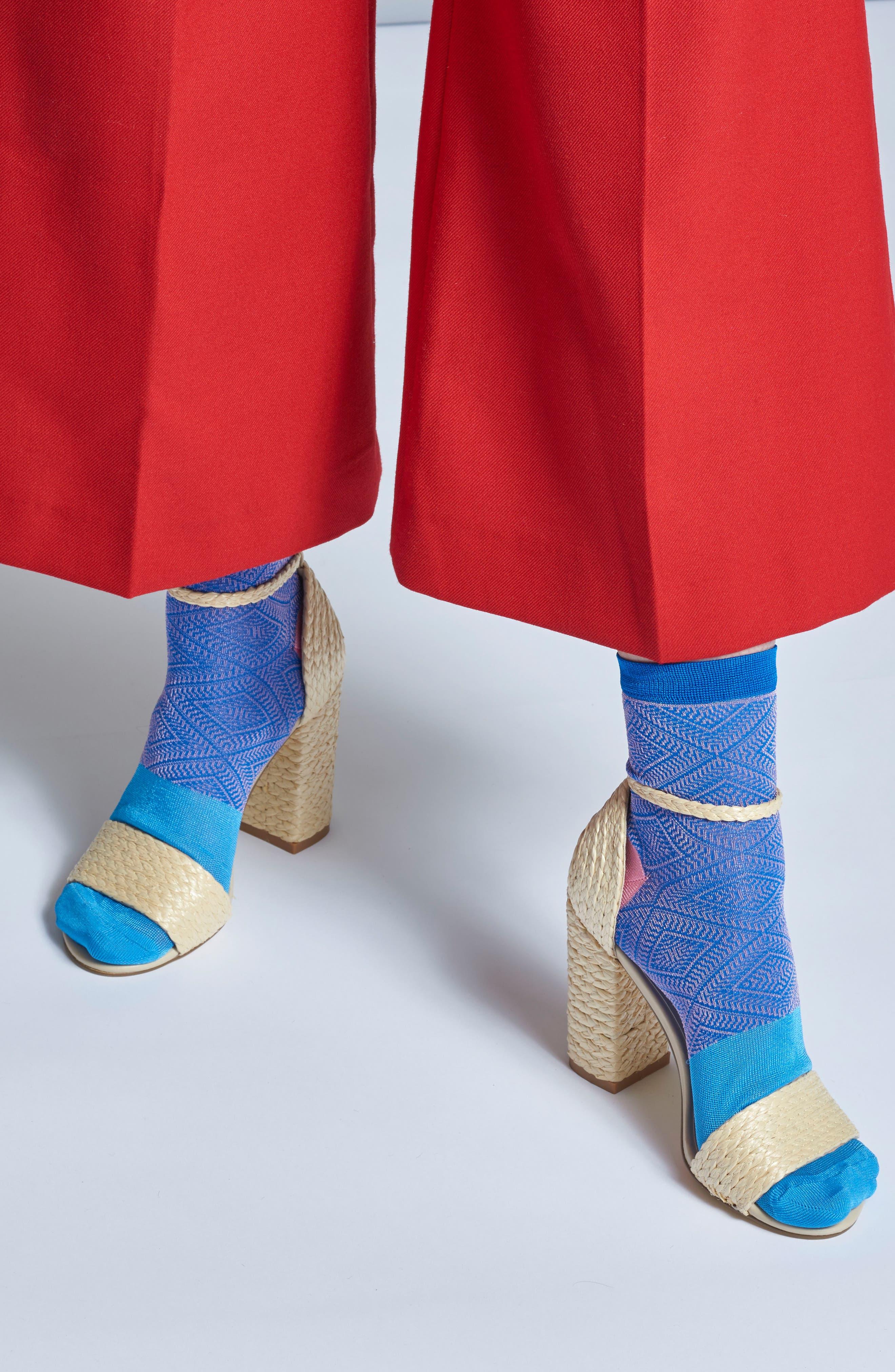 Jill Ankle Socks,                             Alternate thumbnail 3, color,                             Blue