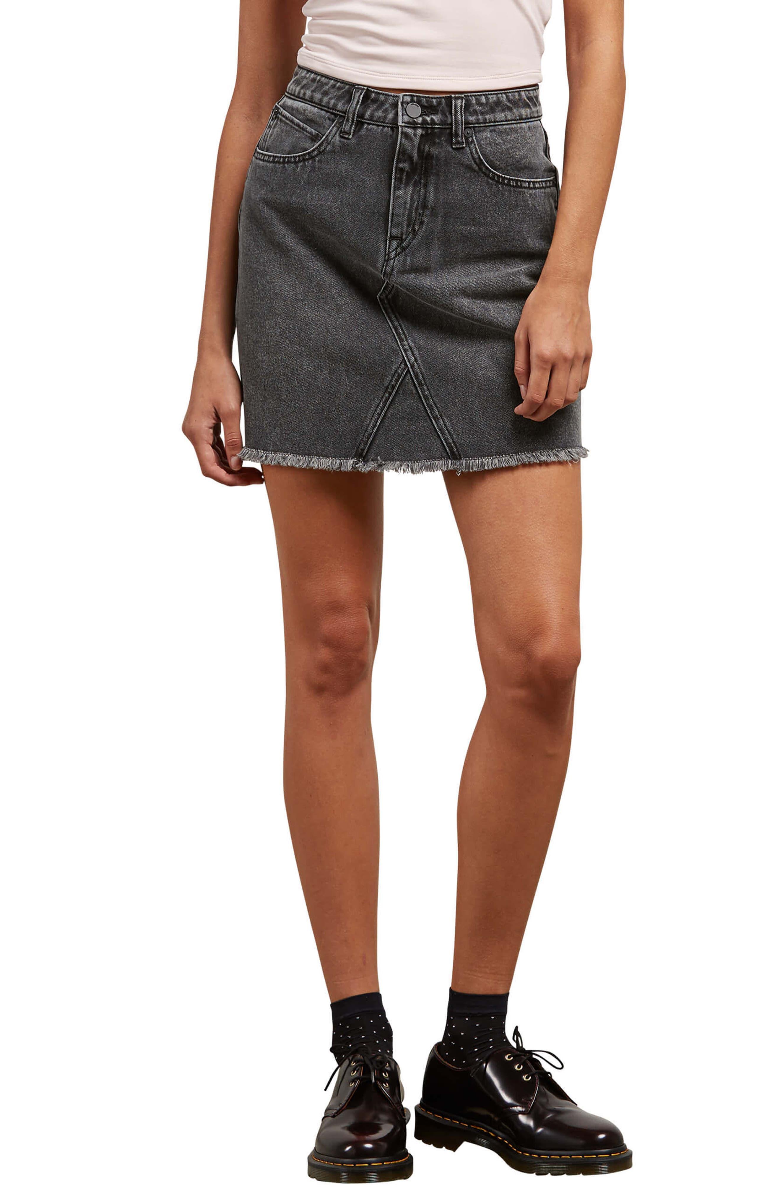 Alternate Image 1 Selected - Volcom Stoned Denim Skirt