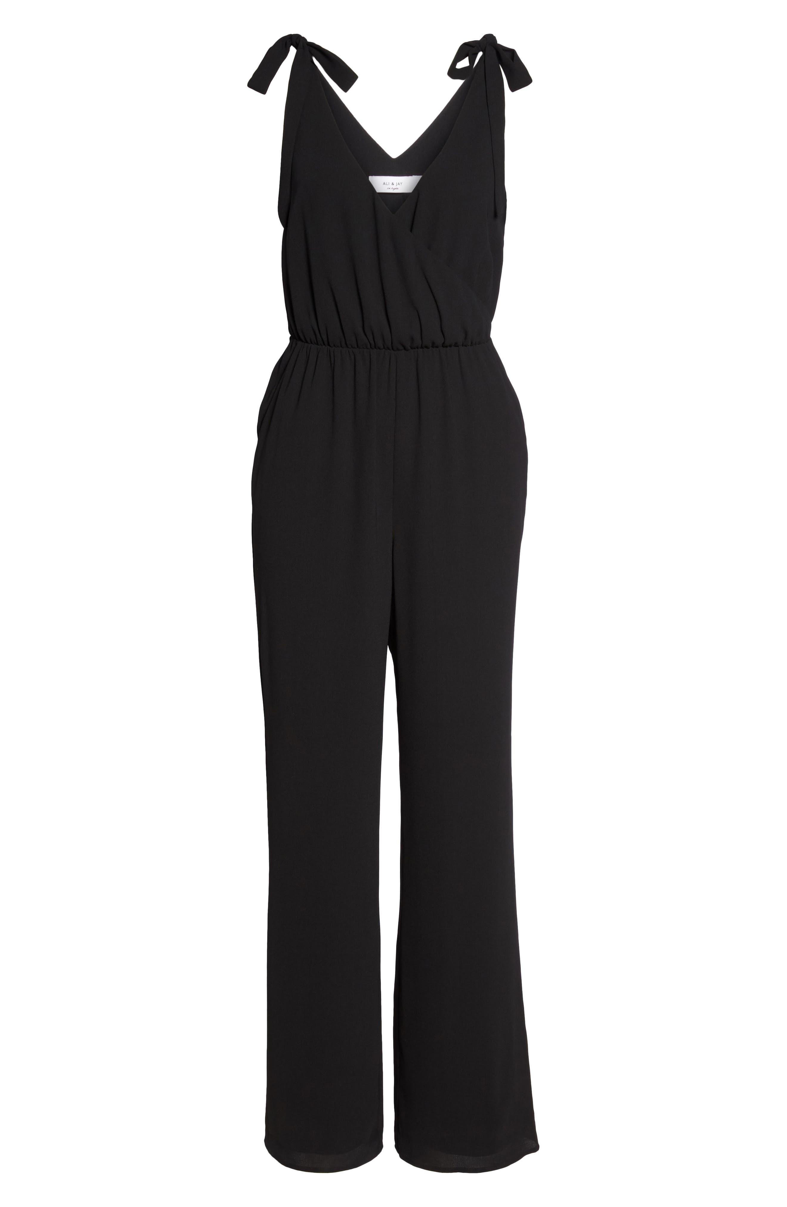 Cafe Stella Jumpsuit,                             Alternate thumbnail 6, color,                             Black