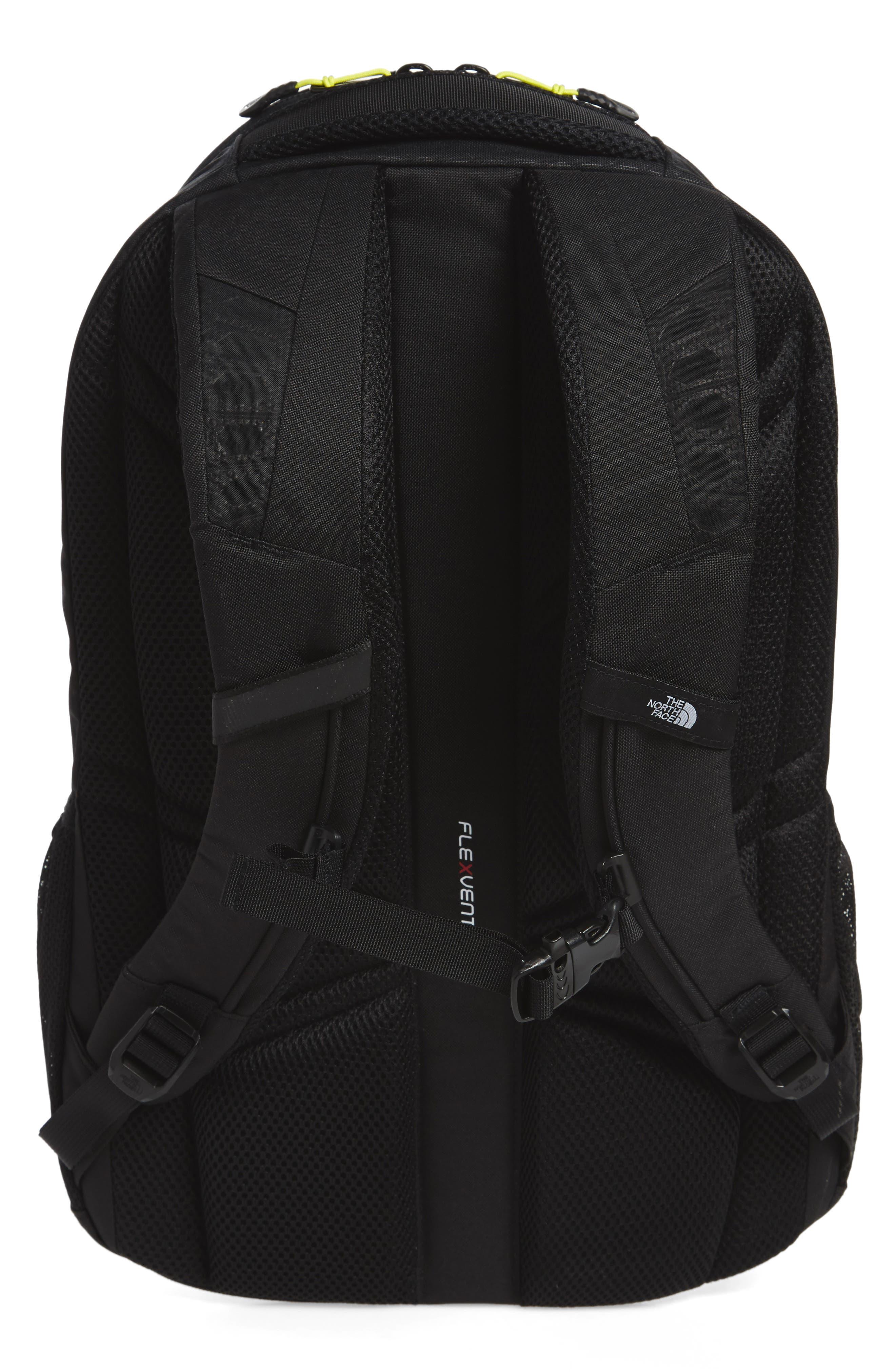 'Jester' Backpack,                             Alternate thumbnail 4, color,                             Tnf Black Emboss/ Spring Green