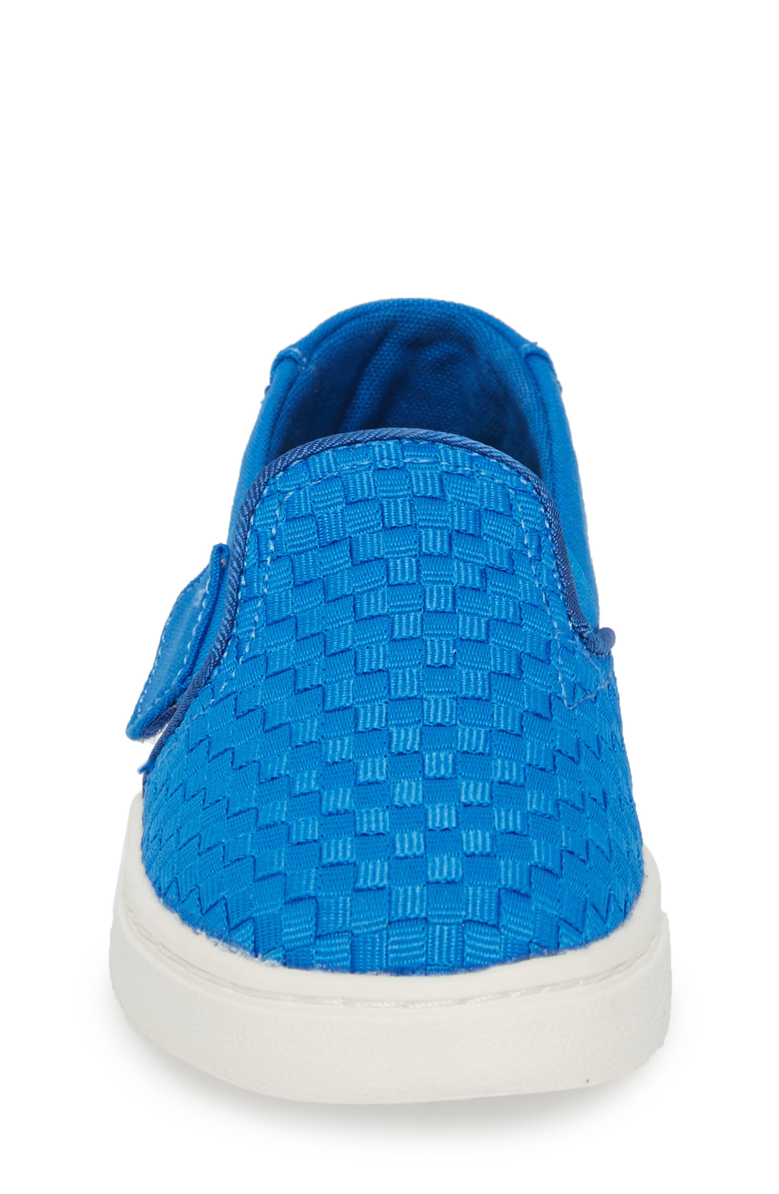 Luca Slip-On Sneaker,                             Alternate thumbnail 4, color,                             Imperial Blue Basketweave