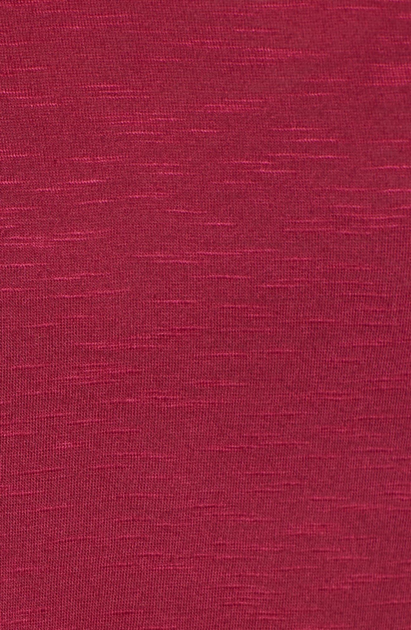 Relaxed Peplum Tee,                             Alternate thumbnail 6, color,                             Purple Fuchsia