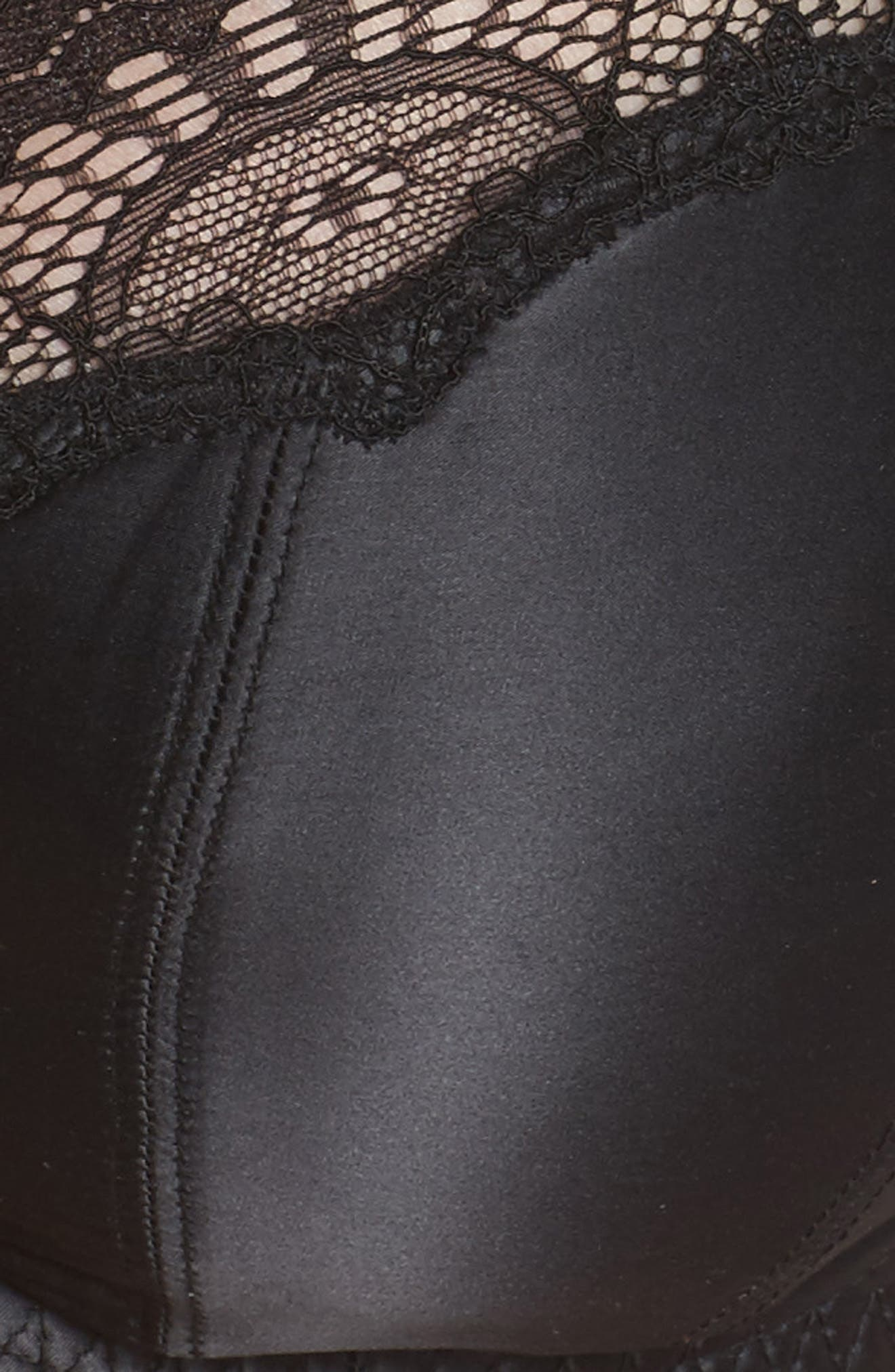 Starlift Full Figure Underwire Bra,                             Alternate thumbnail 9, color,                             Black