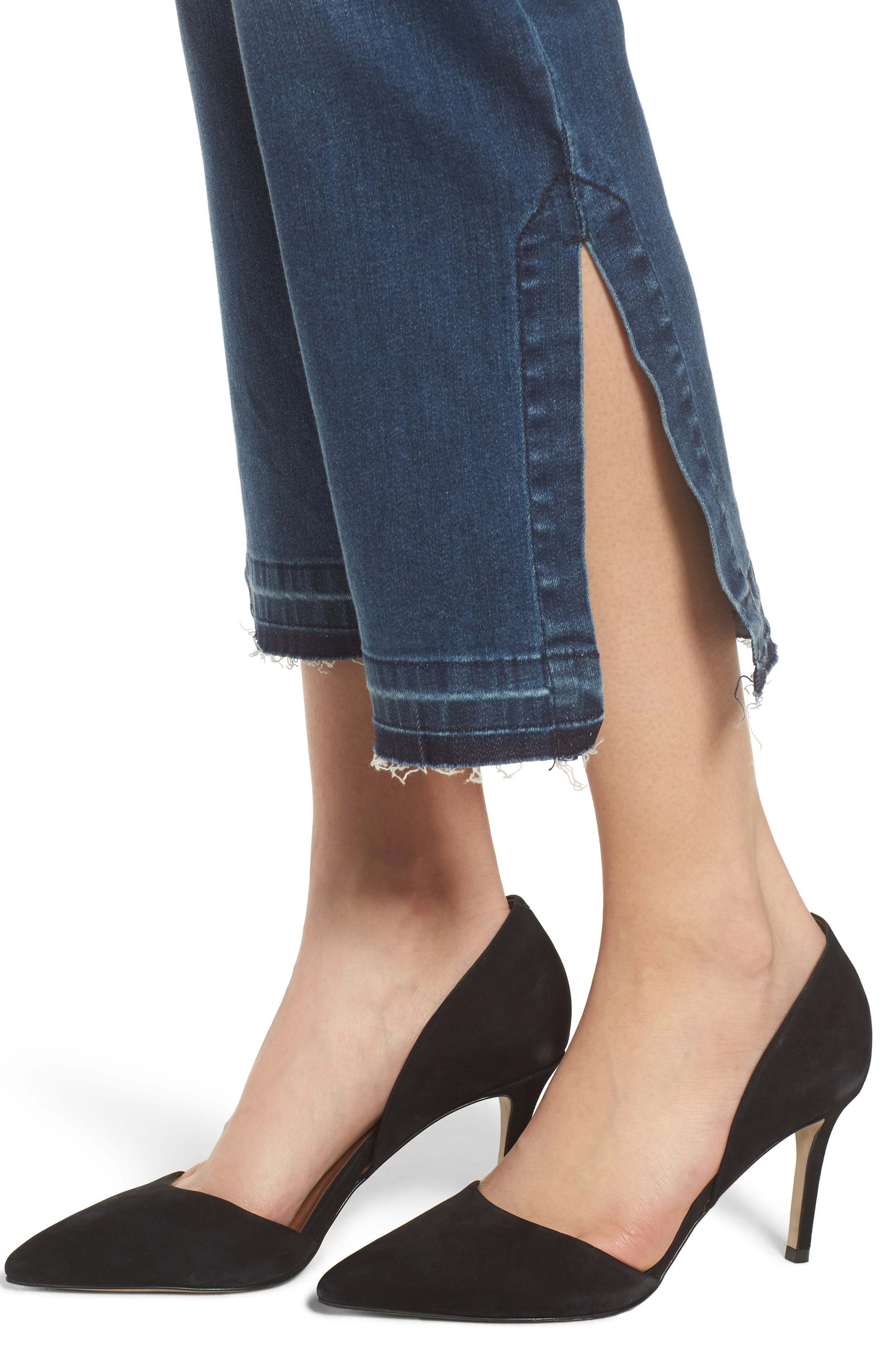 Tabitha Release Hem Crop Jeans,                             Alternate thumbnail 4, color,                             Montauk Mid Blue