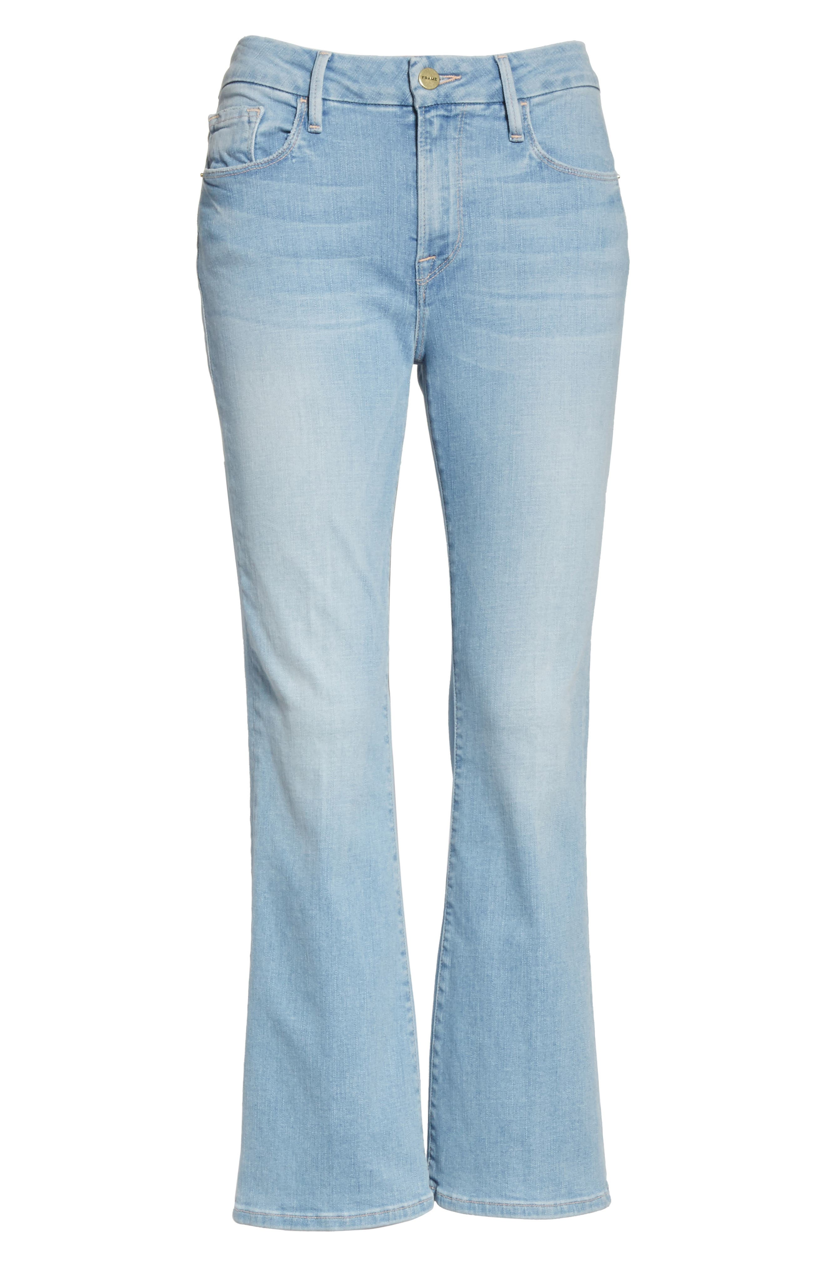 Le Crop Mini Boot Jeans,                             Alternate thumbnail 6, color,                             Kitwood