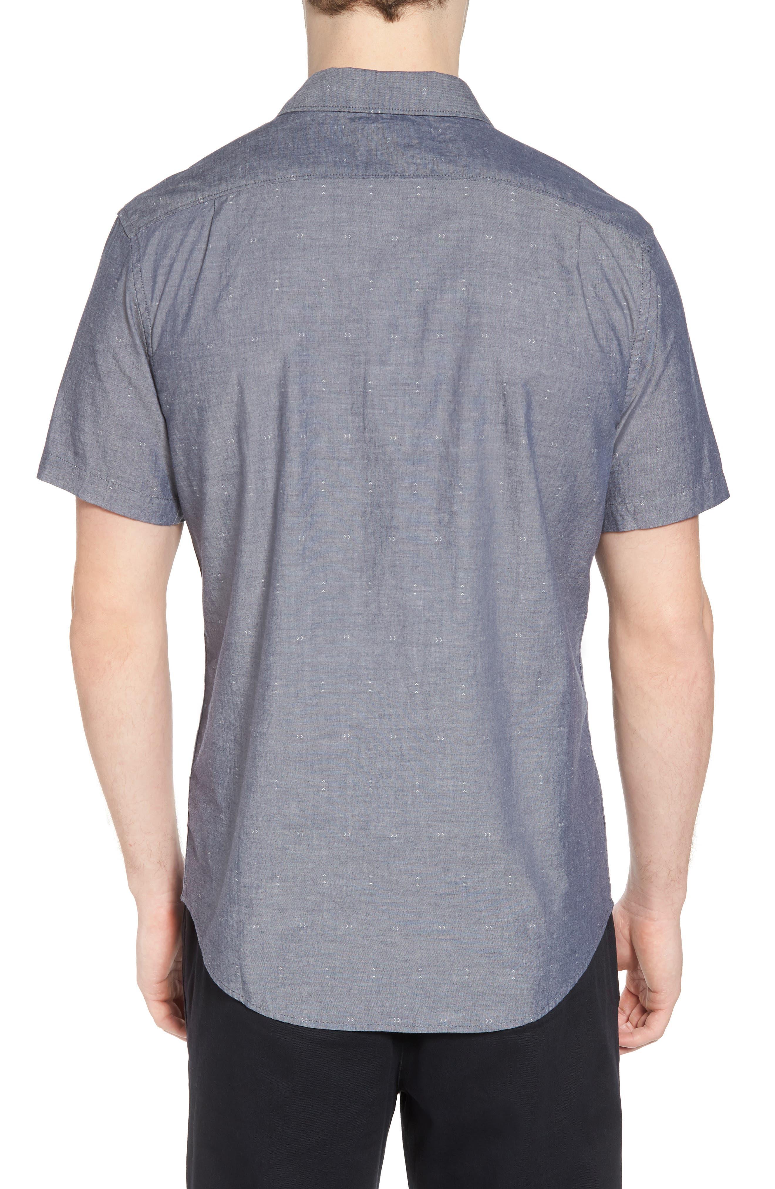 Arrows Woven Shirt,                             Alternate thumbnail 2, color,                             Classic Indigo