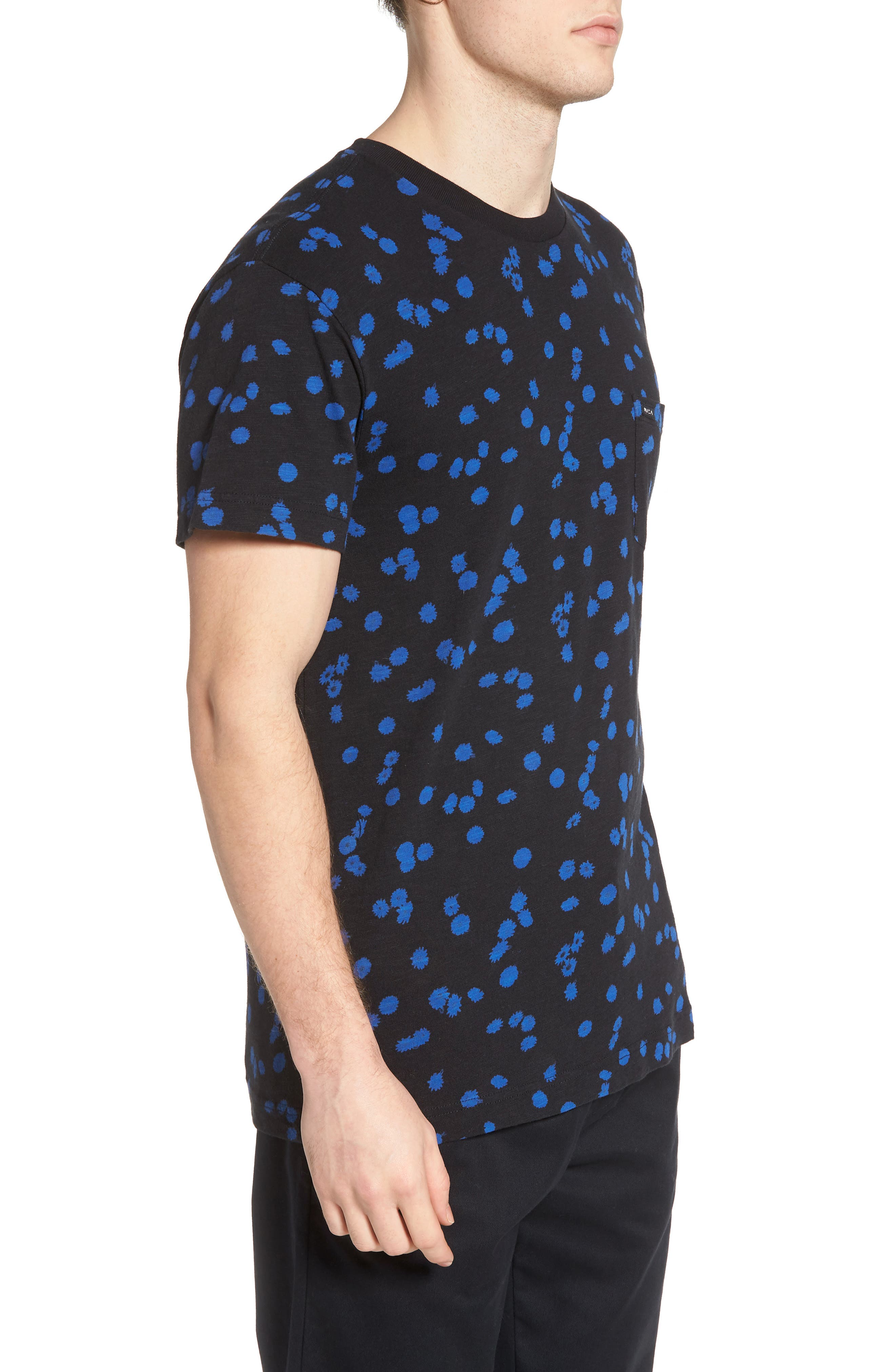 OD Floral T-Shirt,                             Alternate thumbnail 3, color,                             Black