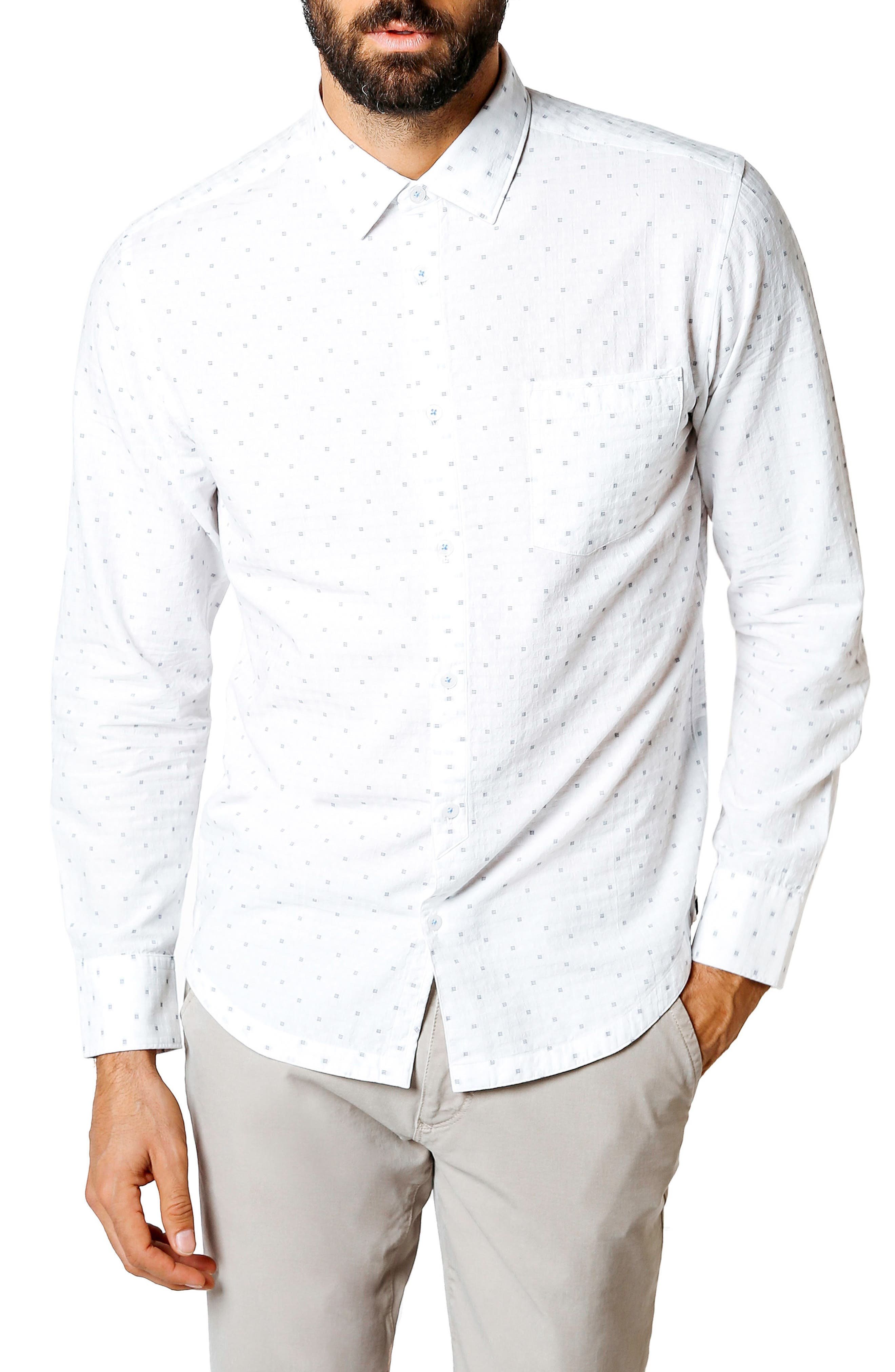 Good Man Brand Trim Fit Geometric Sport Shirt
