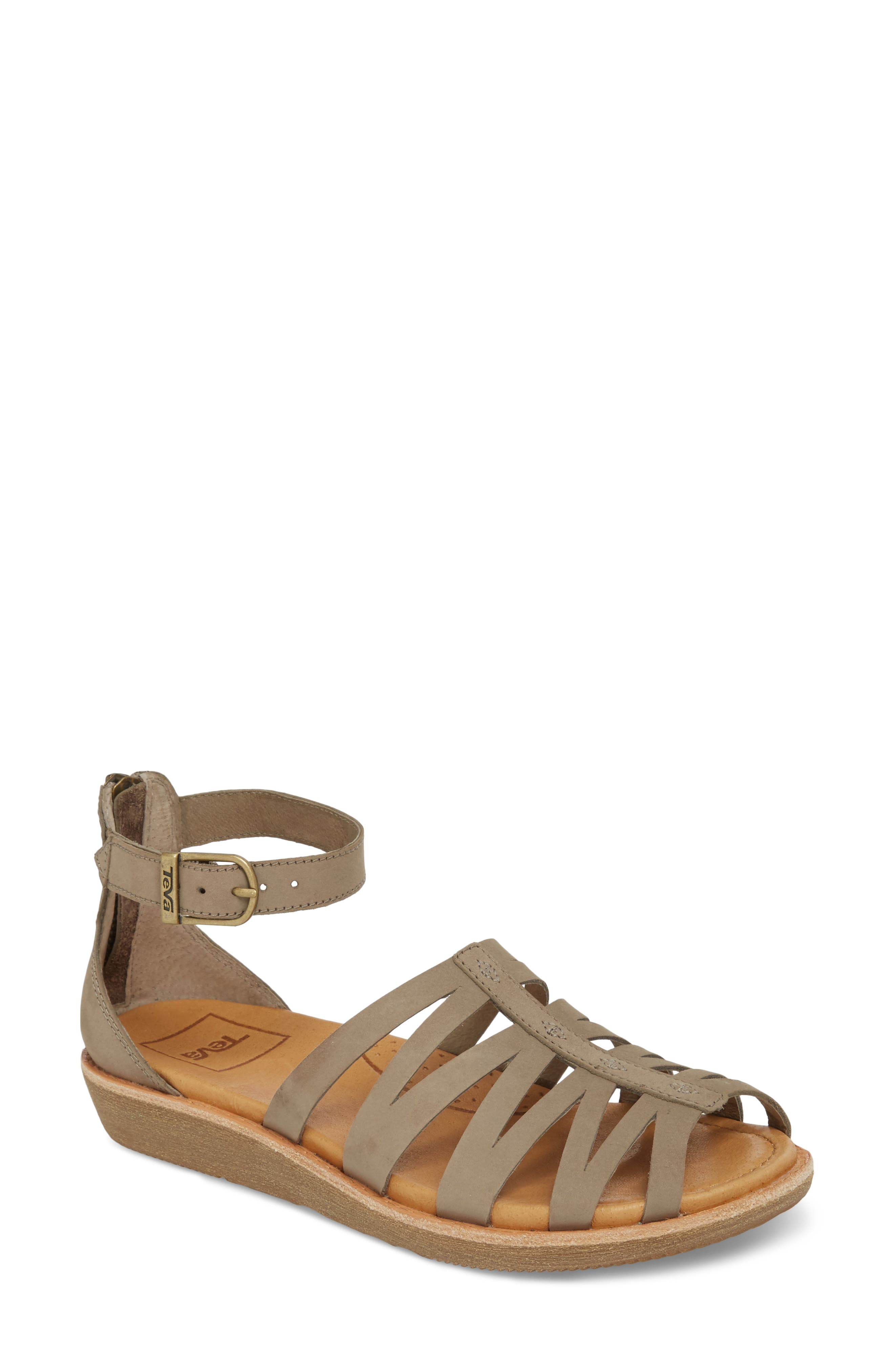 Encanta Sandal,                         Main,                         color, Taupe Leather