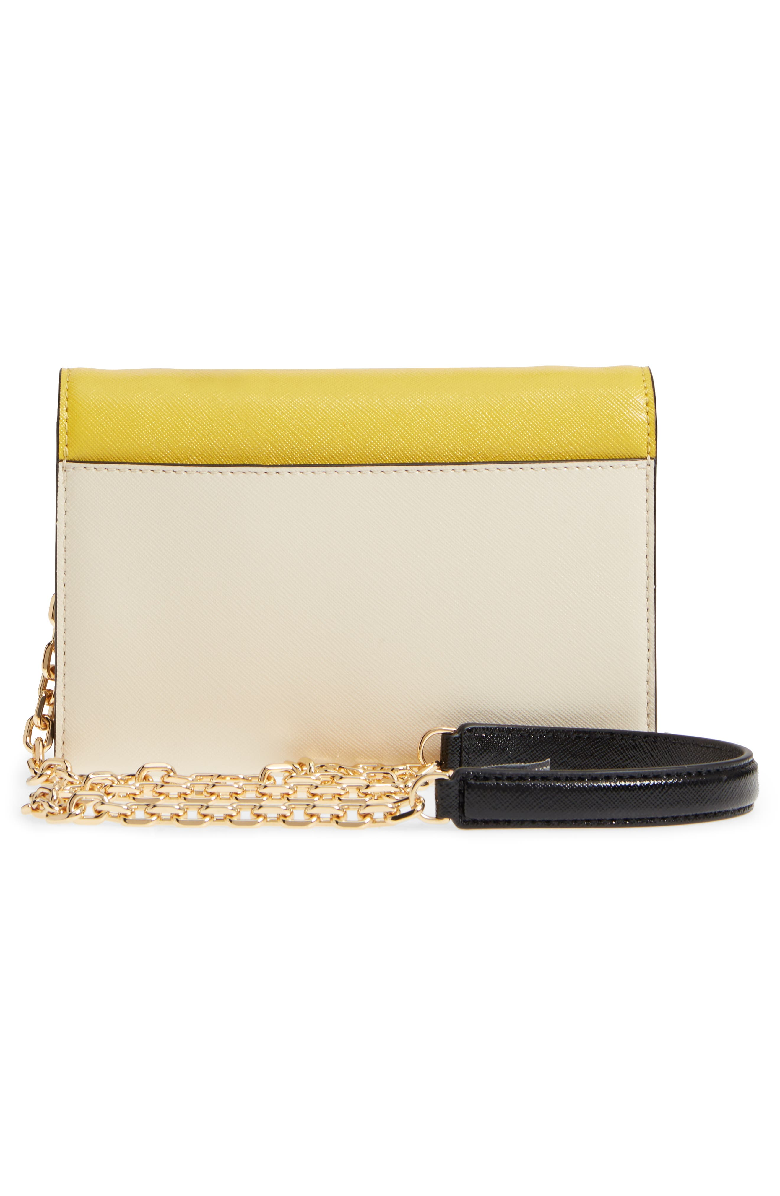 Snapshot Leather Wallet on a Chain,                             Alternate thumbnail 4, color,                             Sunshine Multi