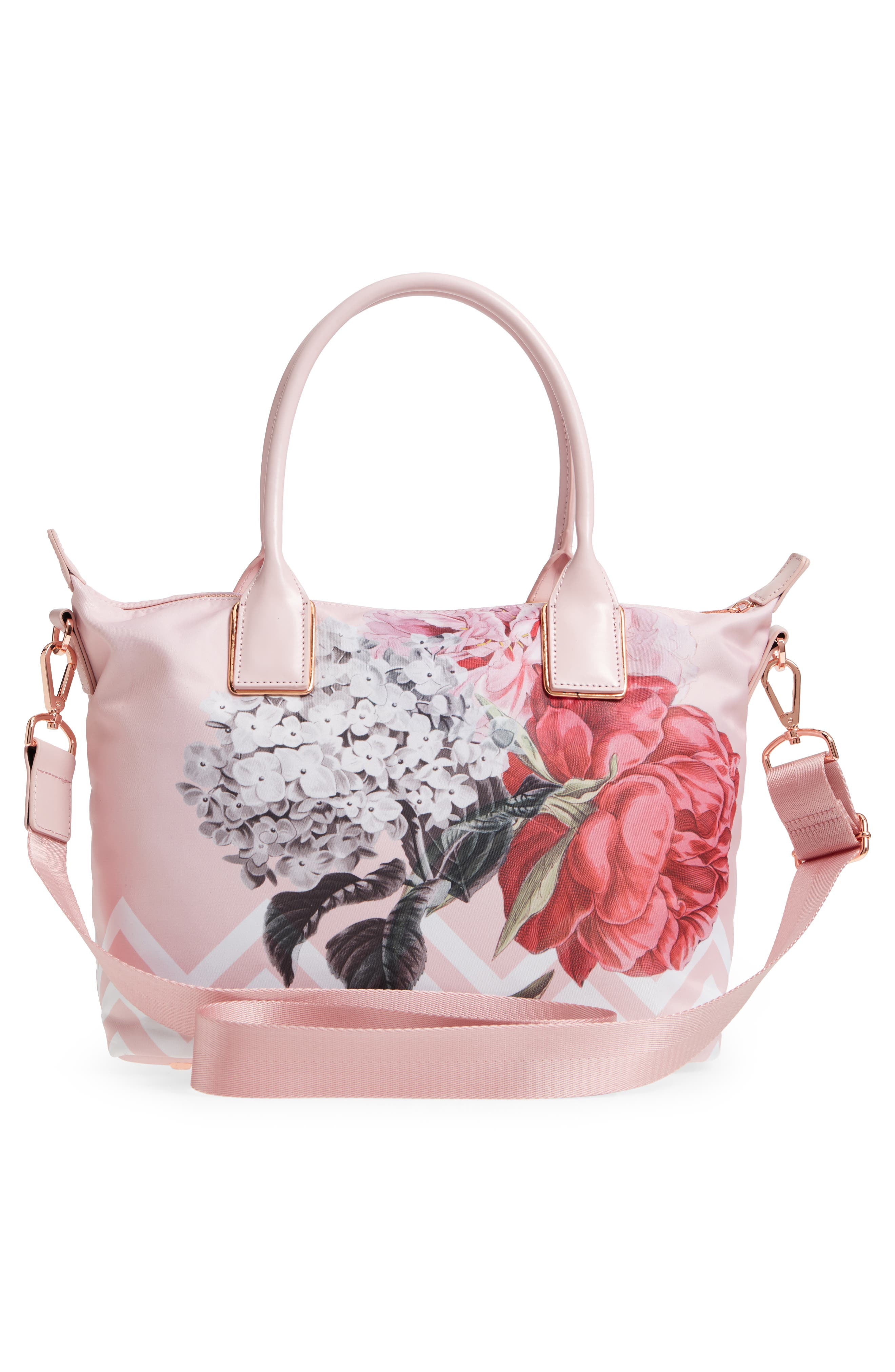 Small Palace Gardens Tote,                             Alternate thumbnail 3, color,                             Dusky Pink