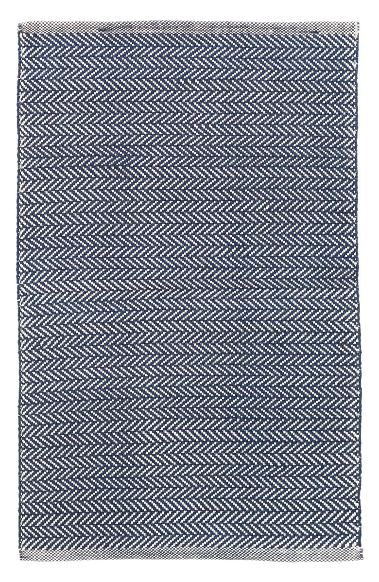 Herringbone Indoor/Outdoor Rug,                         Main,                         color, Navy