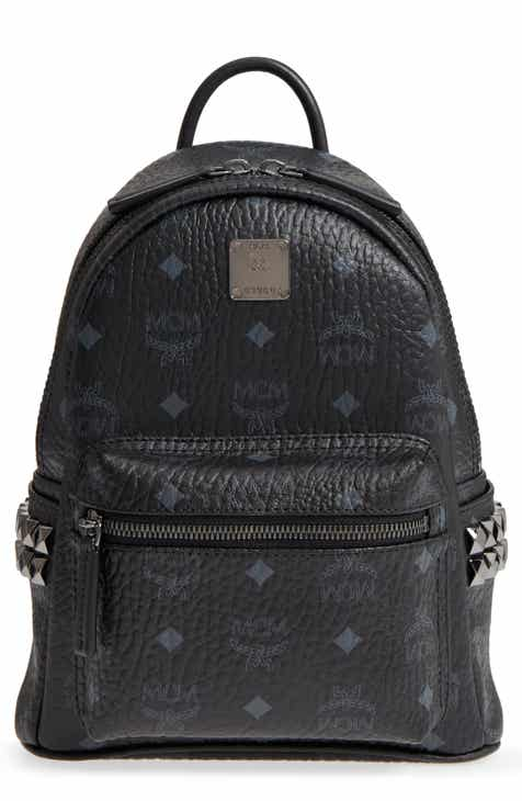 MCM Mini Stark Side Stud Coated Canvas Backpack 2d005a30ddb