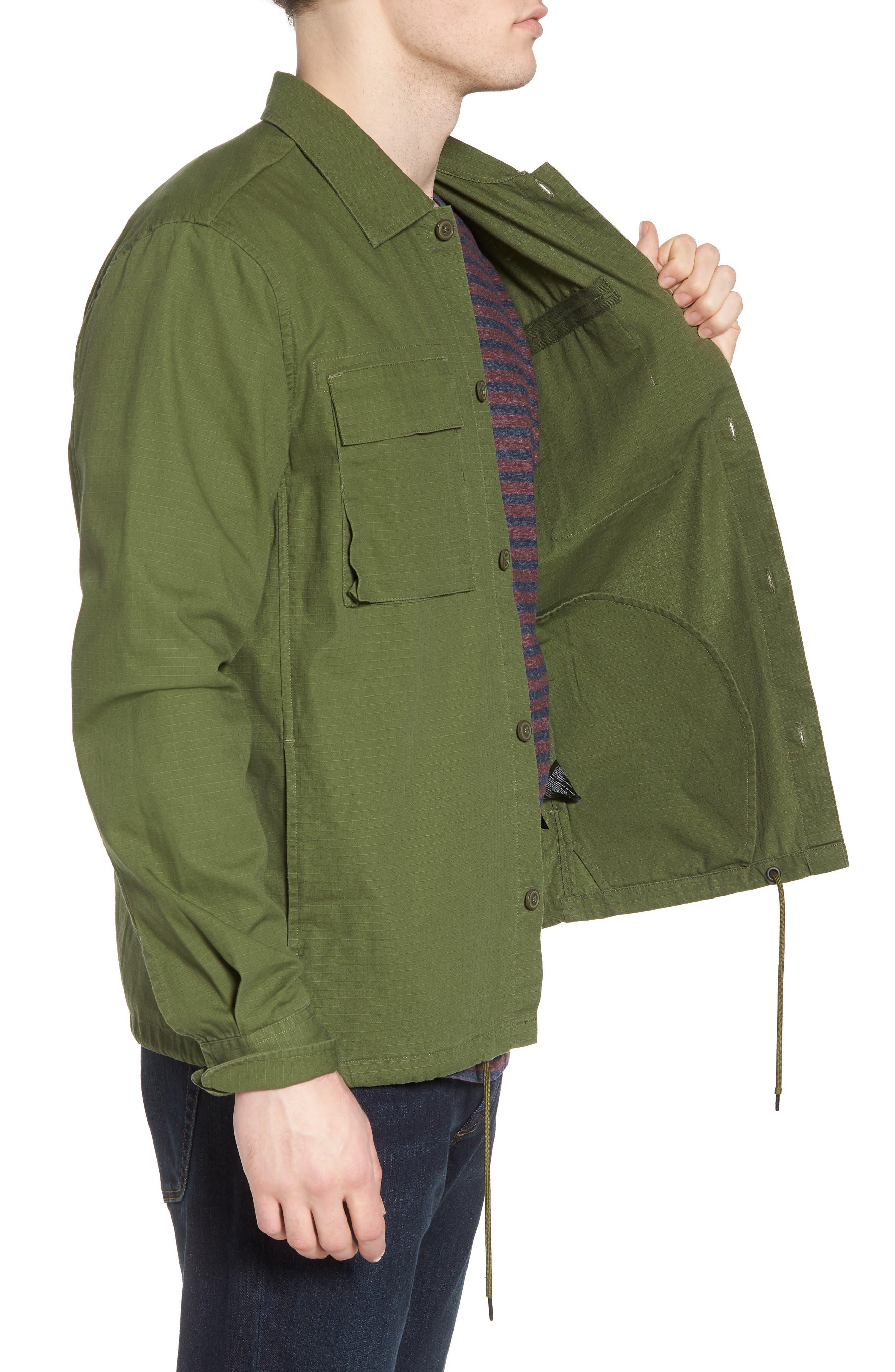 Oakledge Ripstop Shirt Jacket,                             Alternate thumbnail 3, color,                             Olive