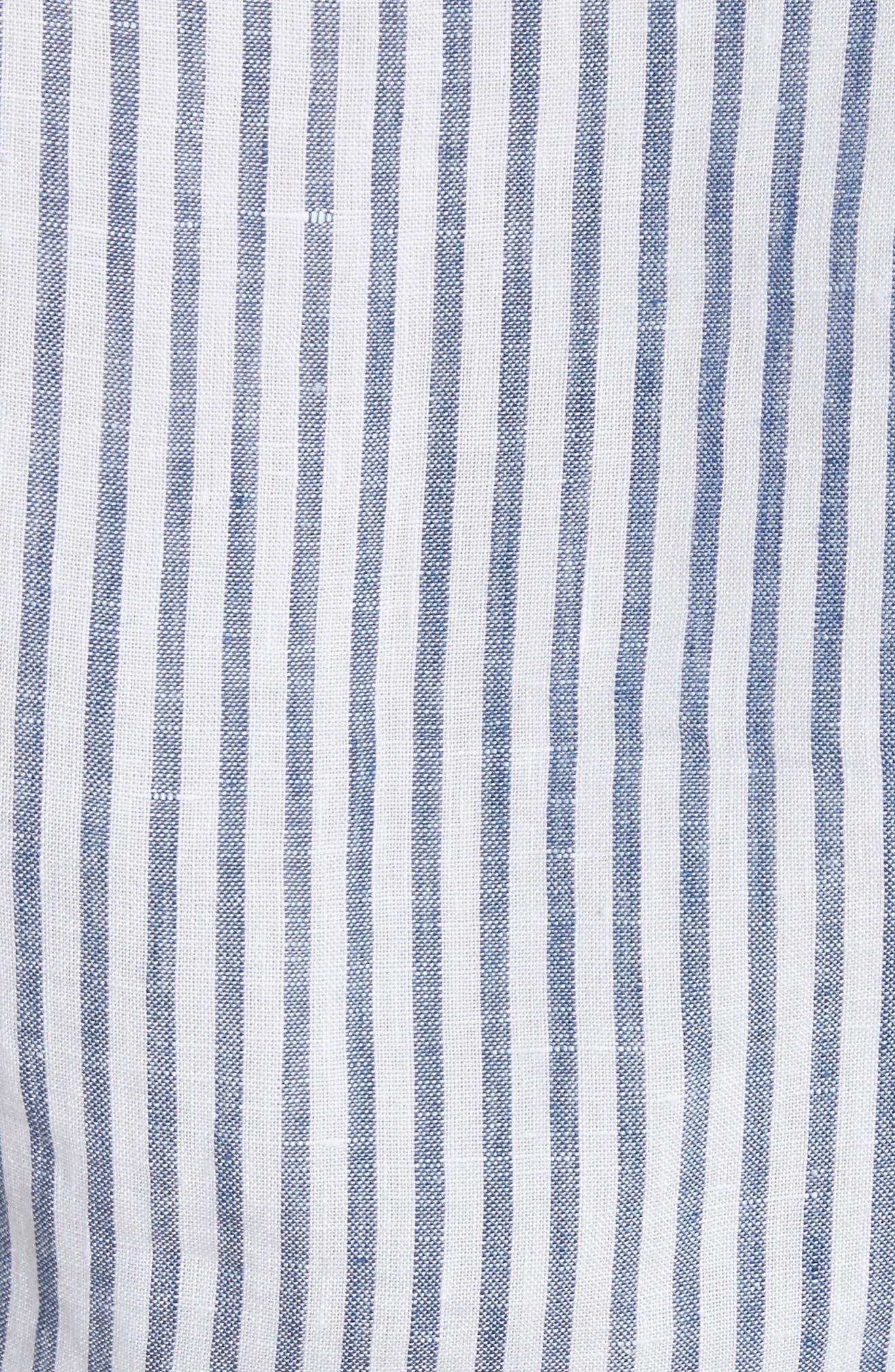 Stripe Handkerchief Blouse,                             Alternate thumbnail 6, color,                             Medium Blue Multi