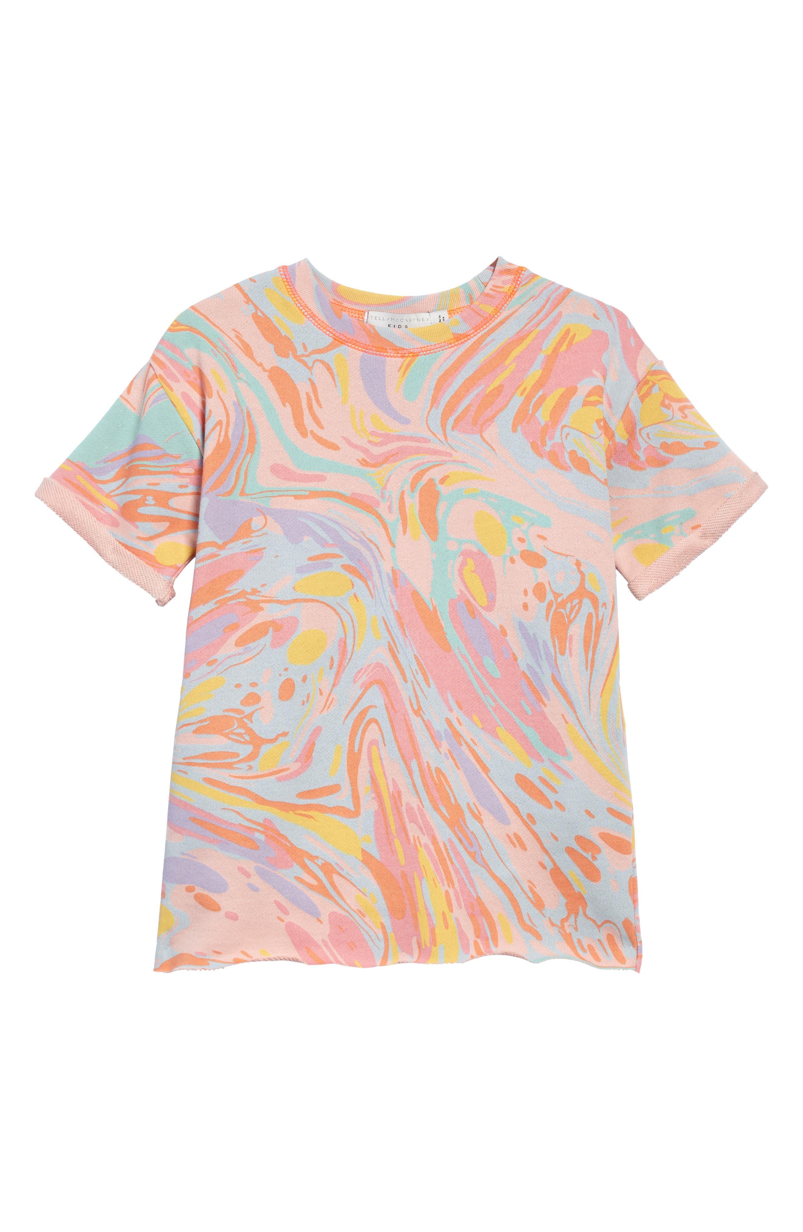 Stella McCartney Kids Savannah Marble Print Dress (Toddler Girls, Little Girls & Big Girls)