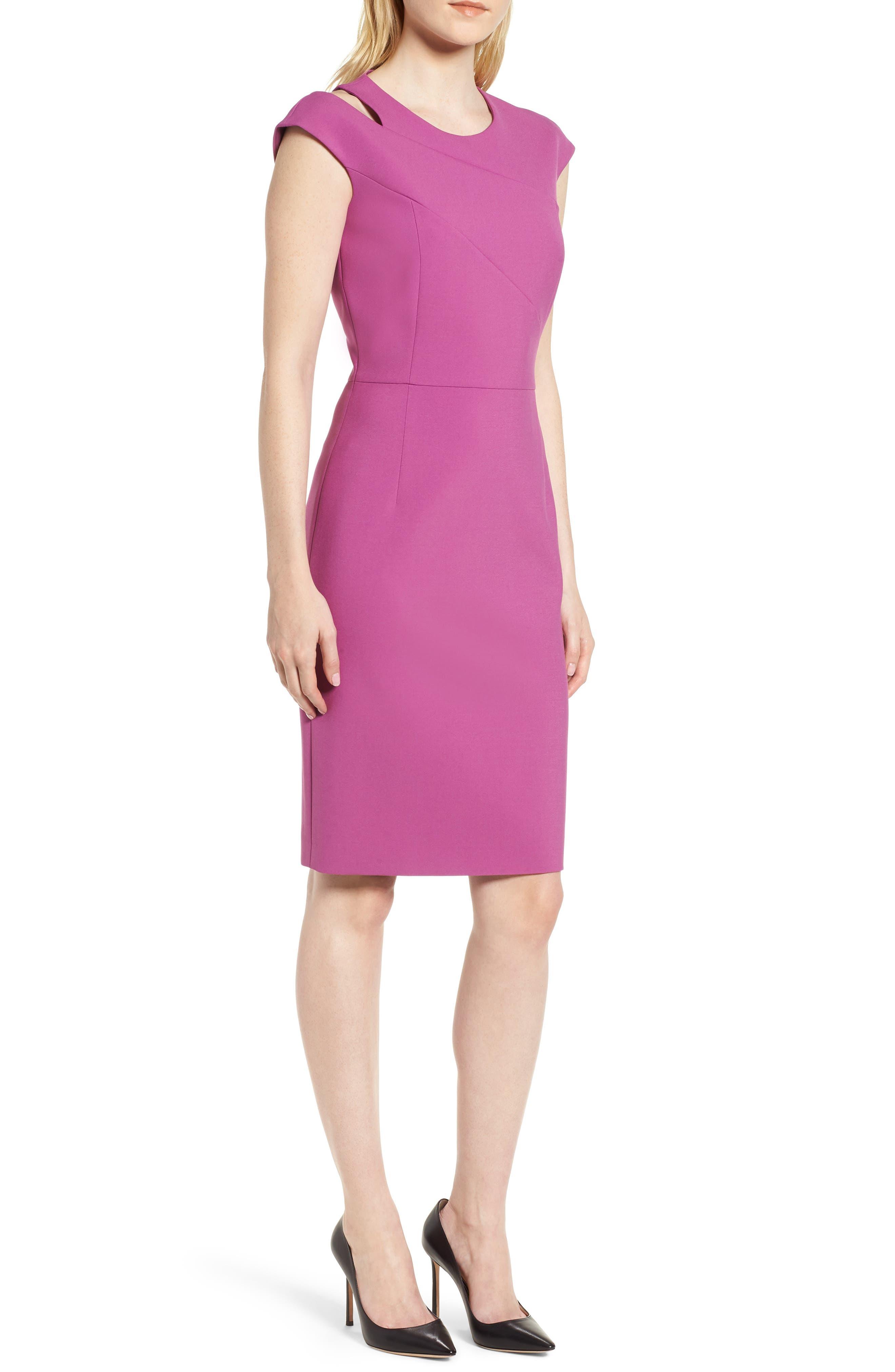 BOSS Danouk Ponte Sheath Dress (Regular & Petite)