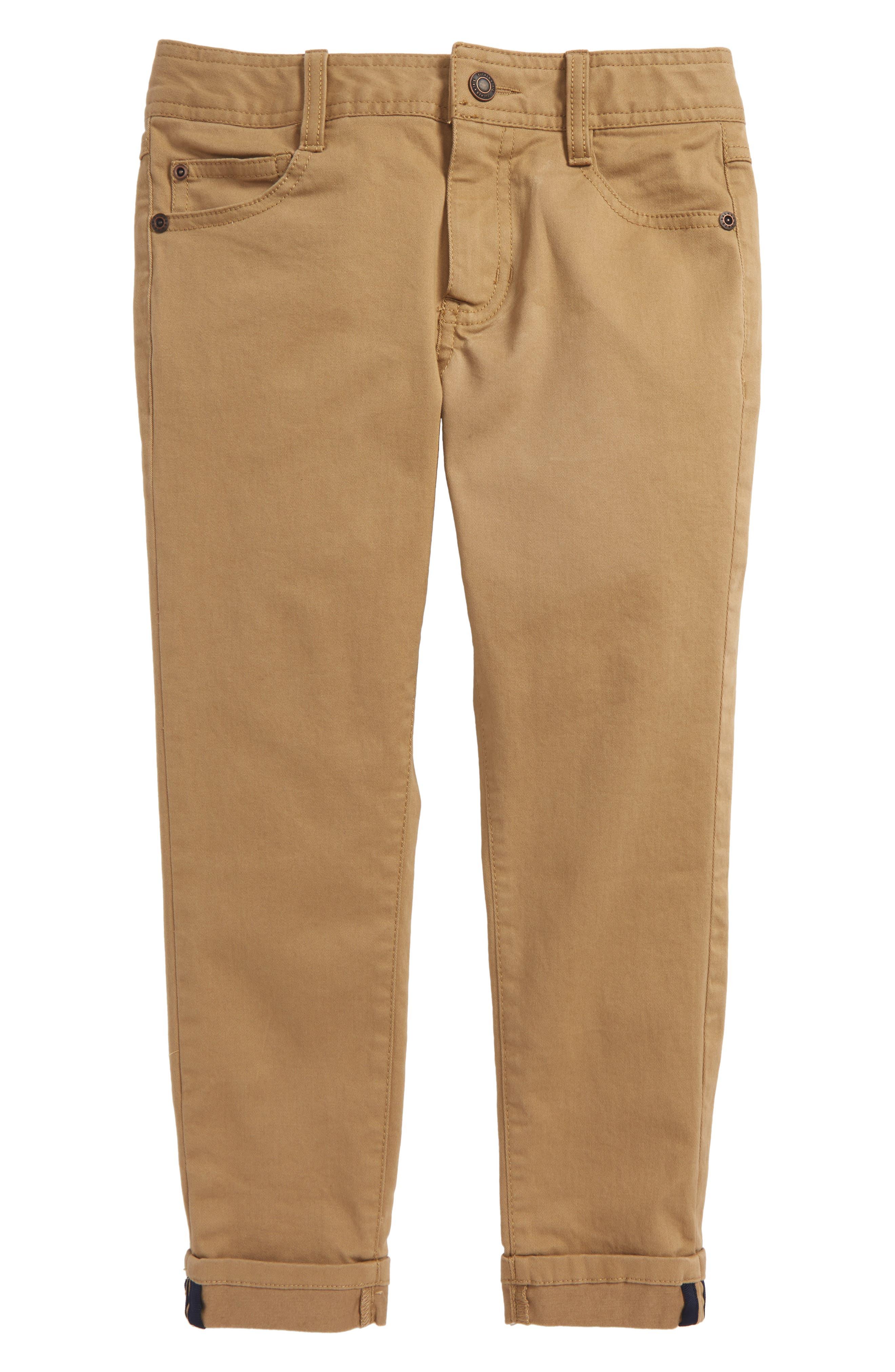 Twill Pants,                         Main,                         color, Tan Kelp