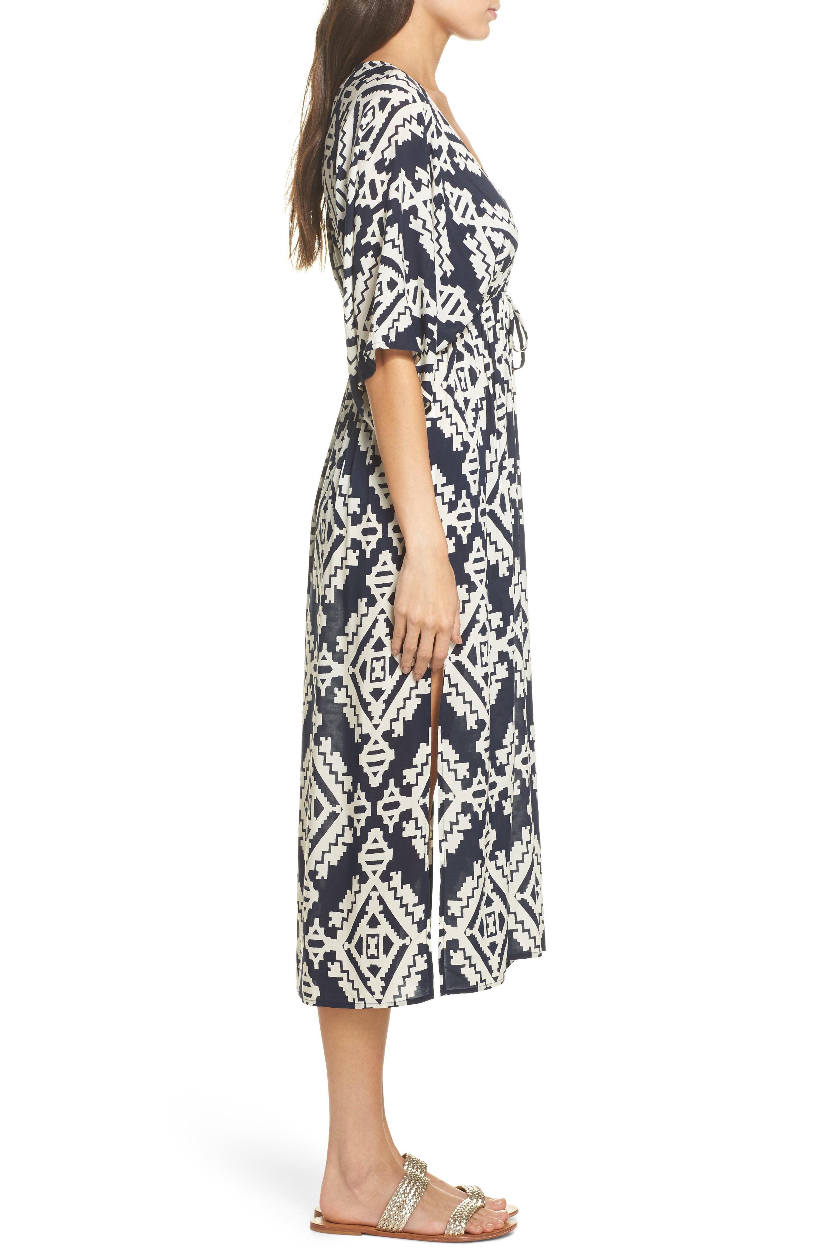 Tapestry Geo Beach Dress,                             Alternate thumbnail 3, color,                             Tapestry Geo