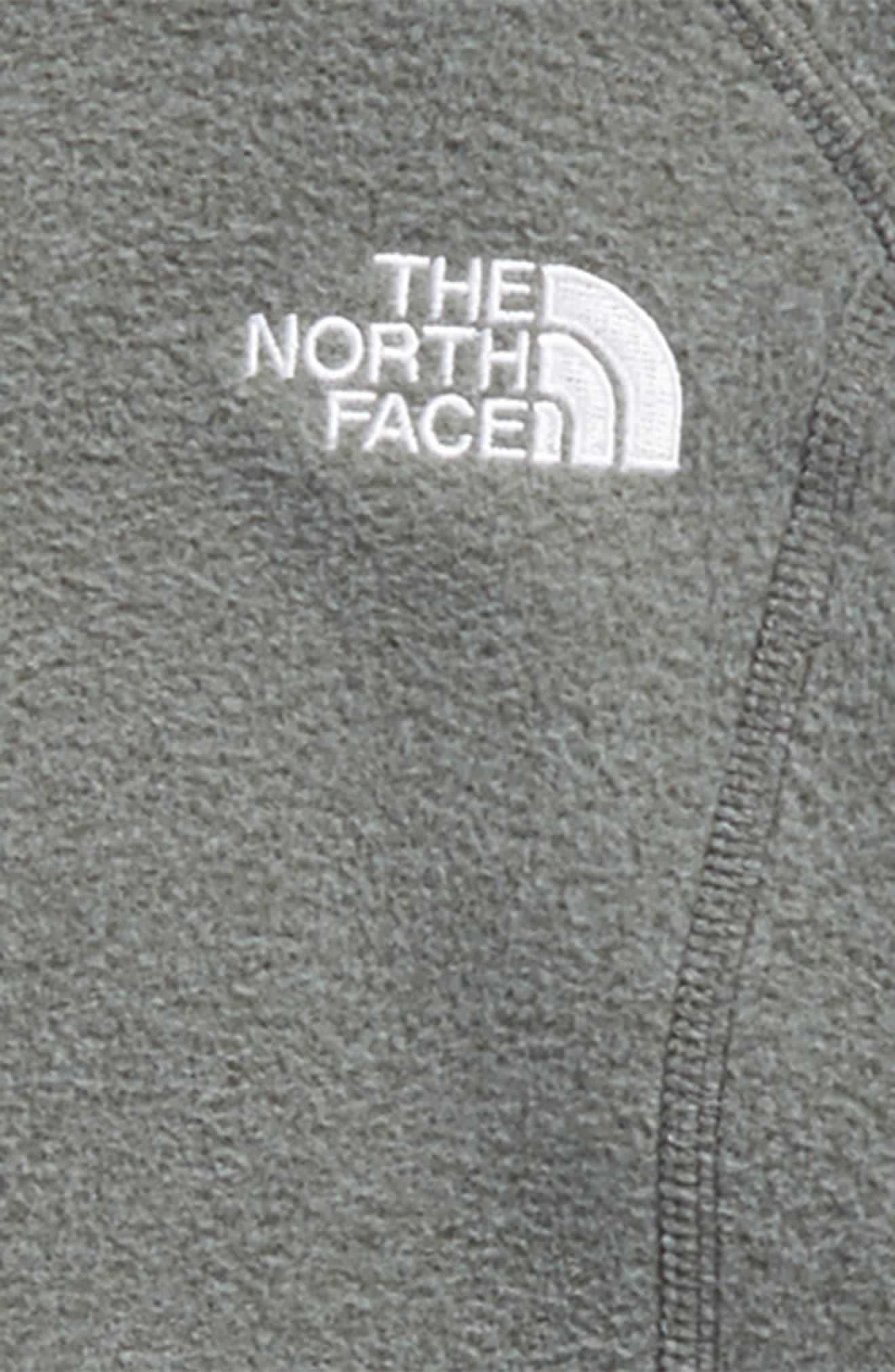 Glacier Full Zip Fleece Hoodie,                             Alternate thumbnail 2, color,                             Medium Grey Heather/ White