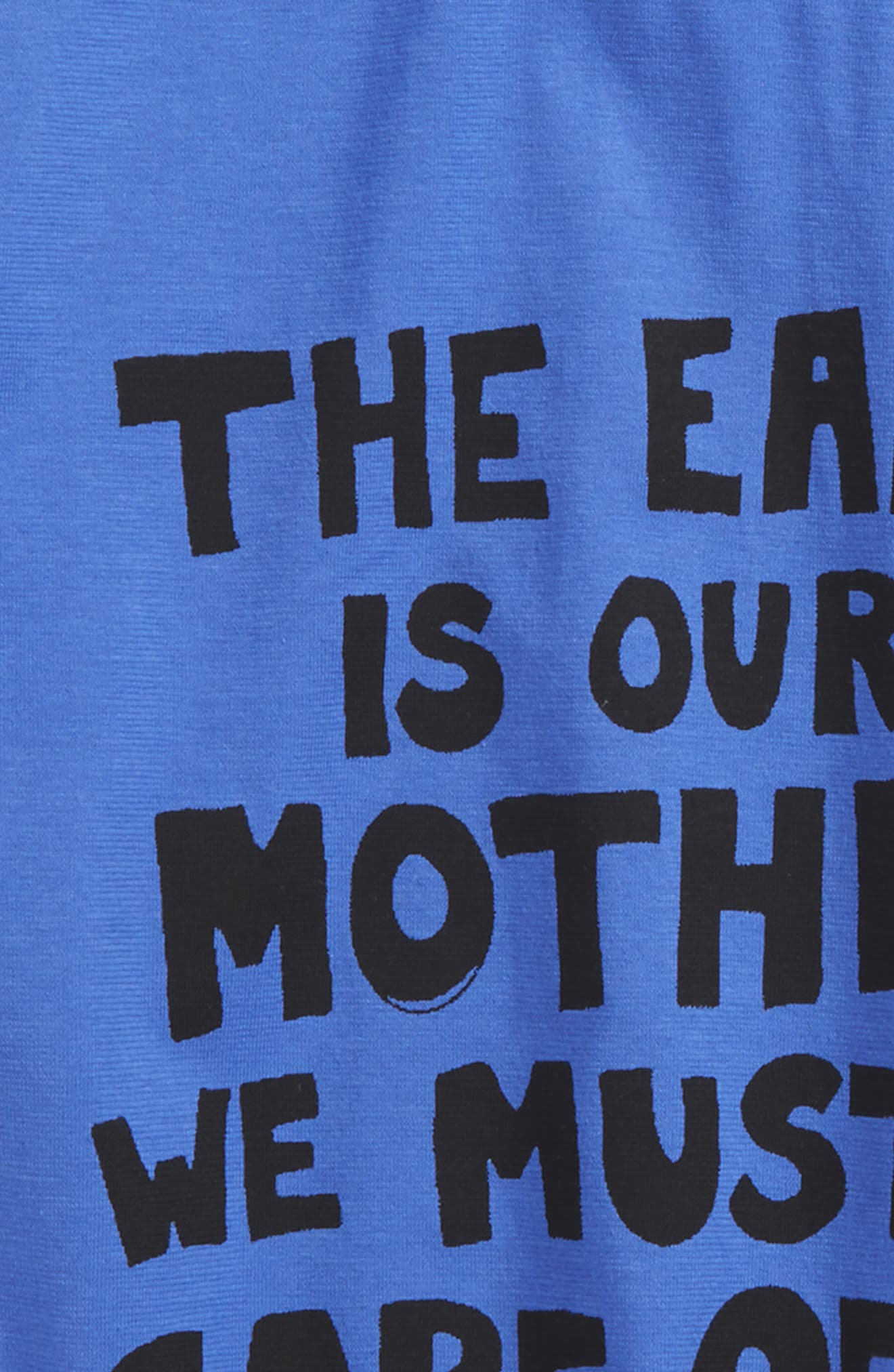 The Earth Is Our Mother Graphic T-Shirt,                             Alternate thumbnail 2, color,                             Blue