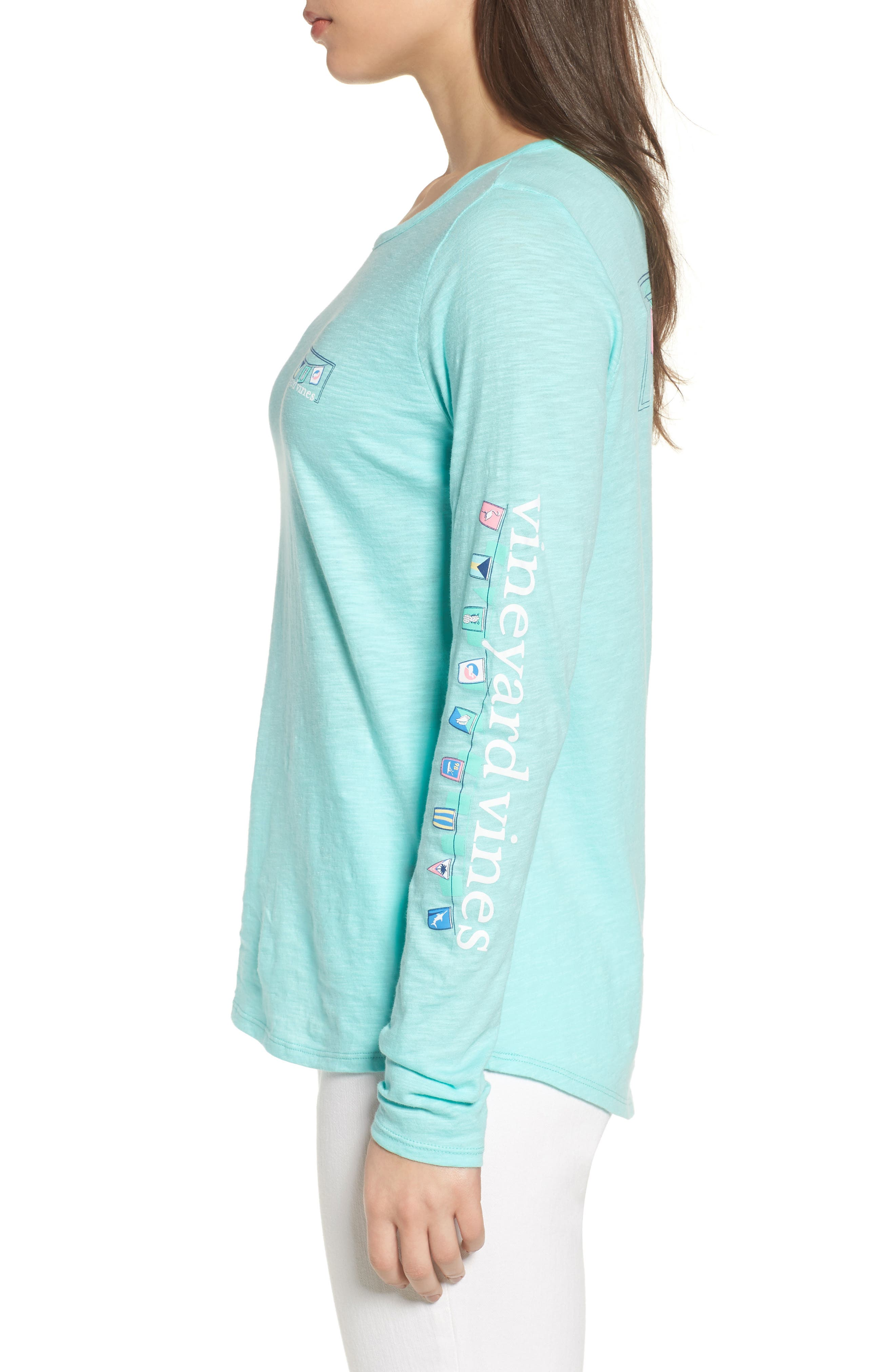 Rafter Long Sleeve Cotton Tee,                             Alternate thumbnail 3, color,                             Caicos
