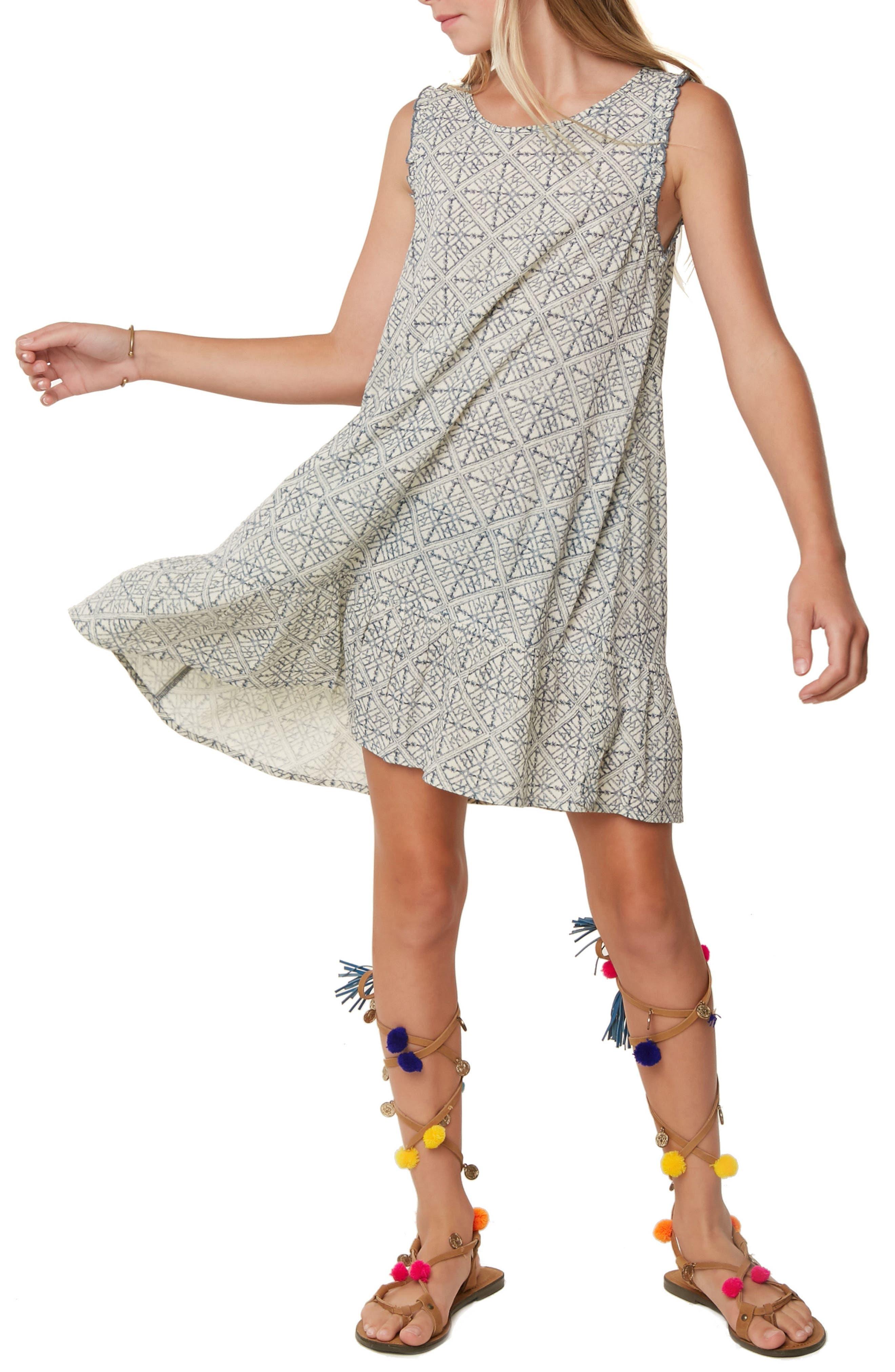 Lani Geo Print Shift Dress,                             Alternate thumbnail 4, color,                             Eventide