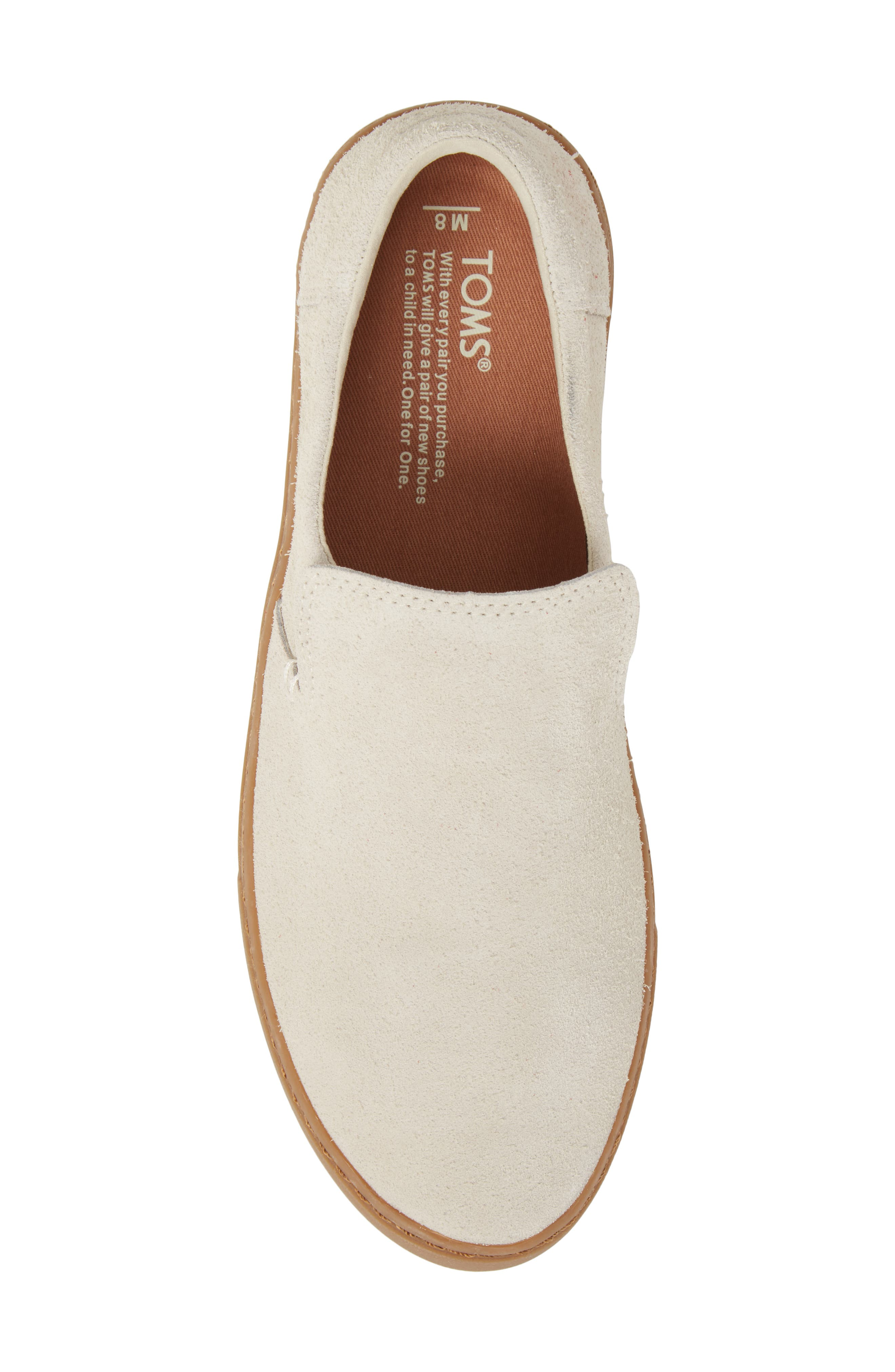Loma Slip-On Sneaker,                             Alternate thumbnail 5, color,                             Birch Shaggy Suede/ Gum