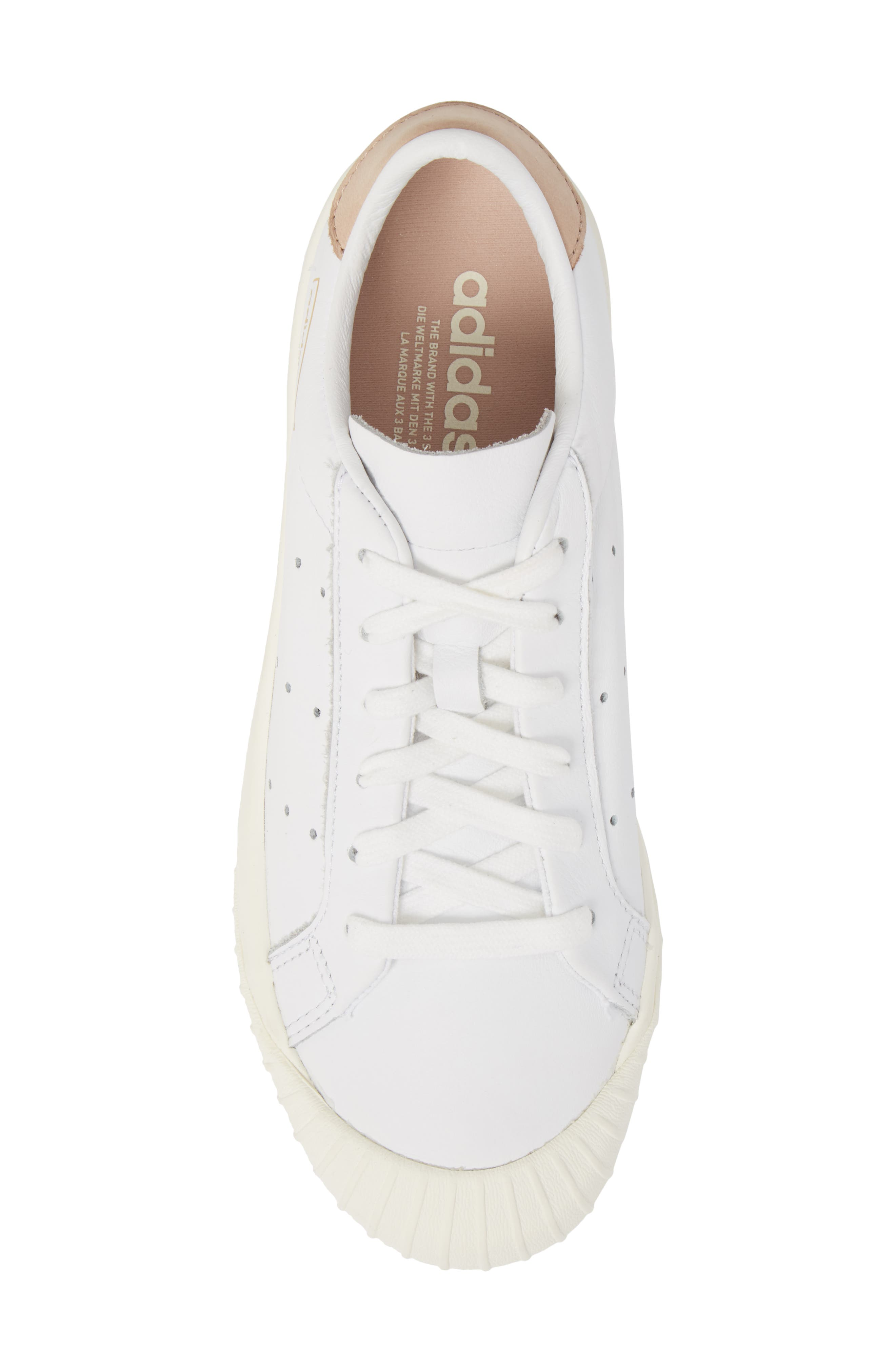 Everyn Perforated Low Top Sneaker,                             Alternate thumbnail 5, color,                             White/ White/ Ash Pearl