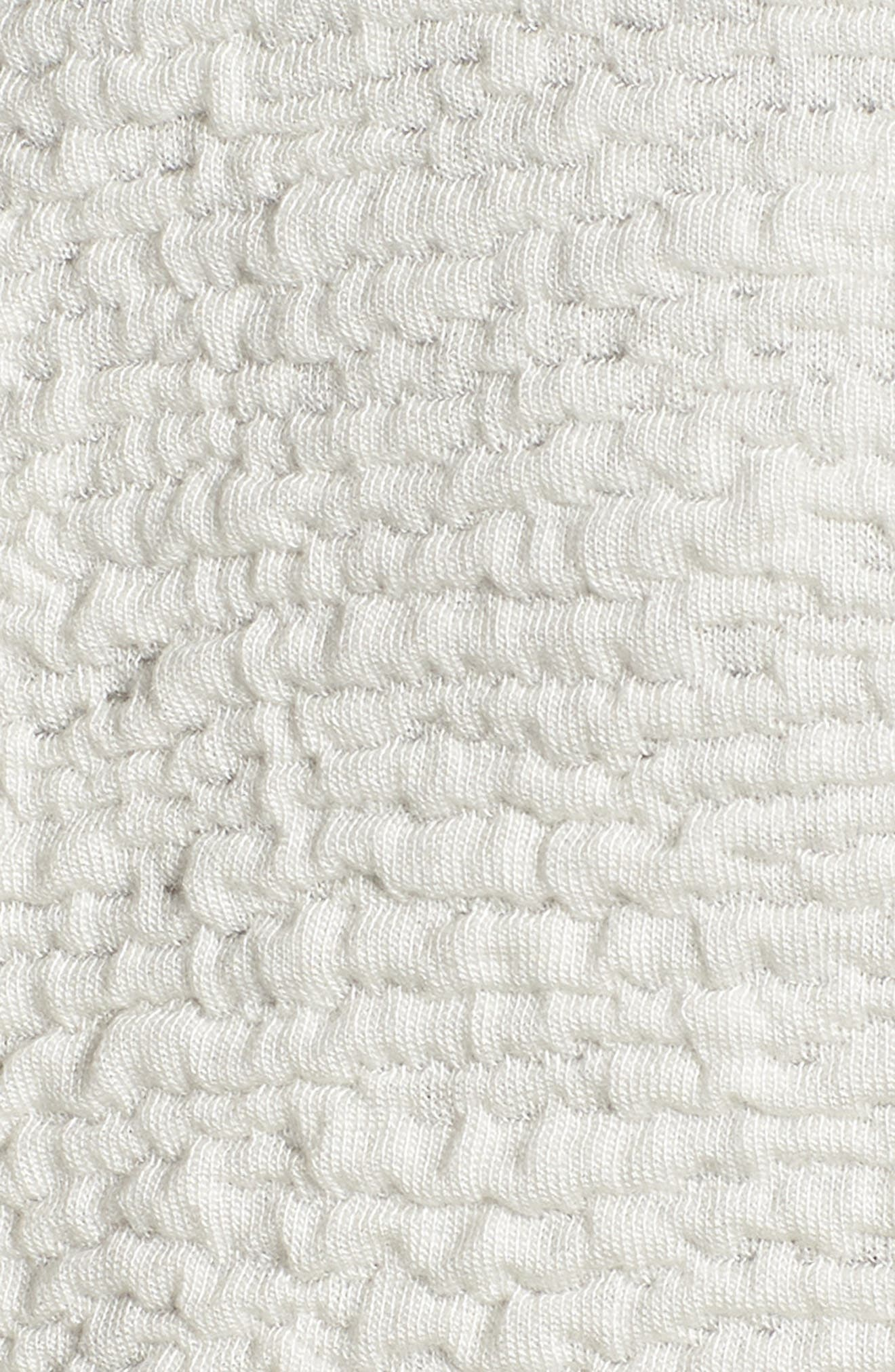 Textured Tencel<sup>®</sup> Lyocell Kimono Jacket,                             Alternate thumbnail 5, color,                             White