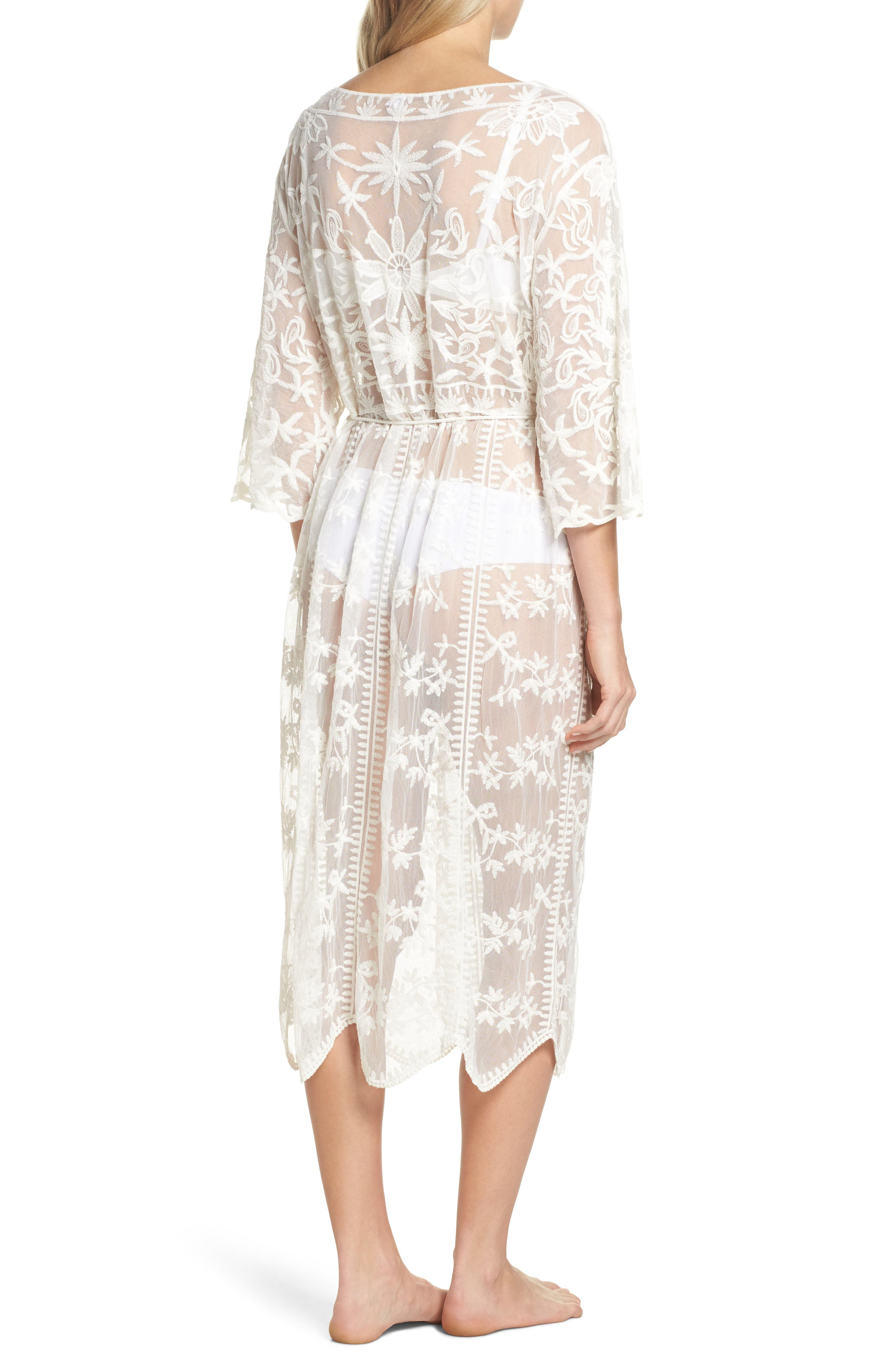 Tracey Embroidered Robe,                             Alternate thumbnail 2, color,                             Ivory