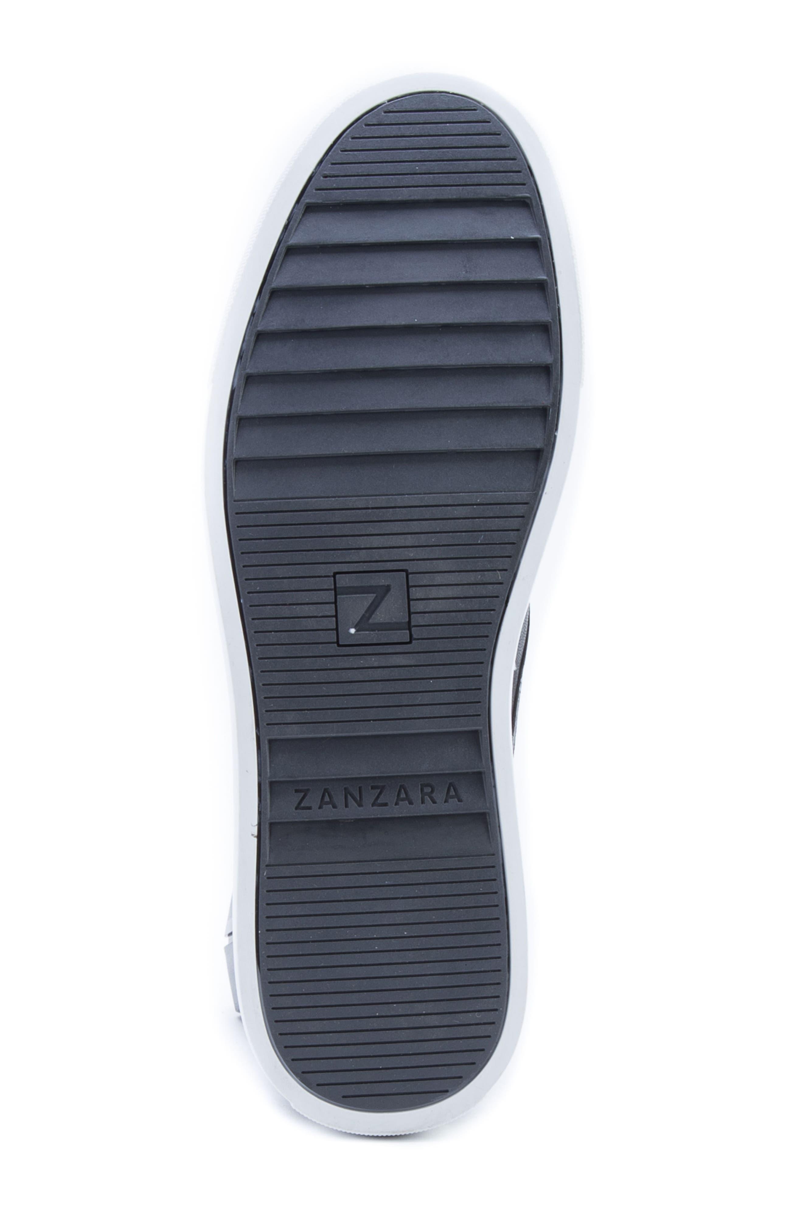 Duchamps Slip-On Sneaker,                             Alternate thumbnail 6, color,                             Black Leather/ Suede